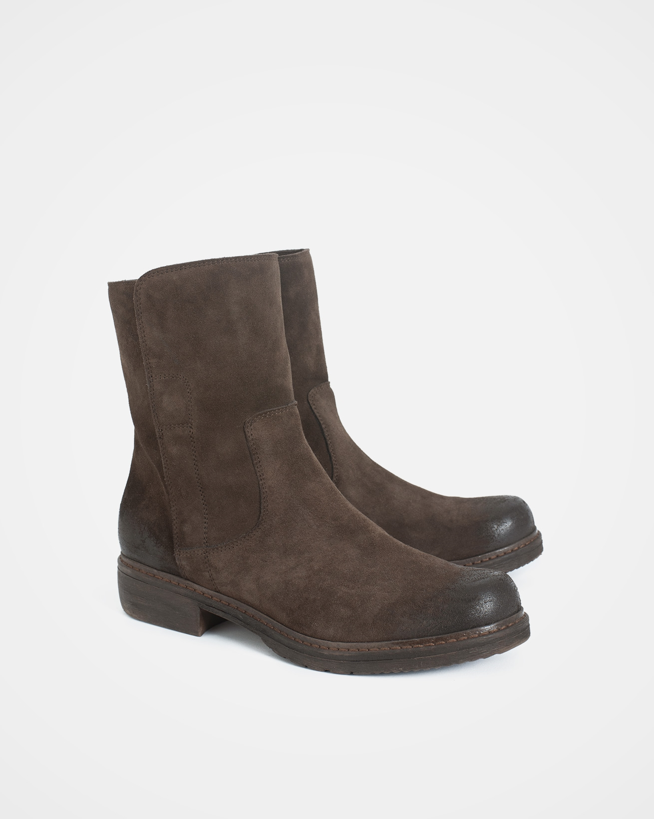 Essential leather ankle boots - Size 37 - Chocolate - 1741