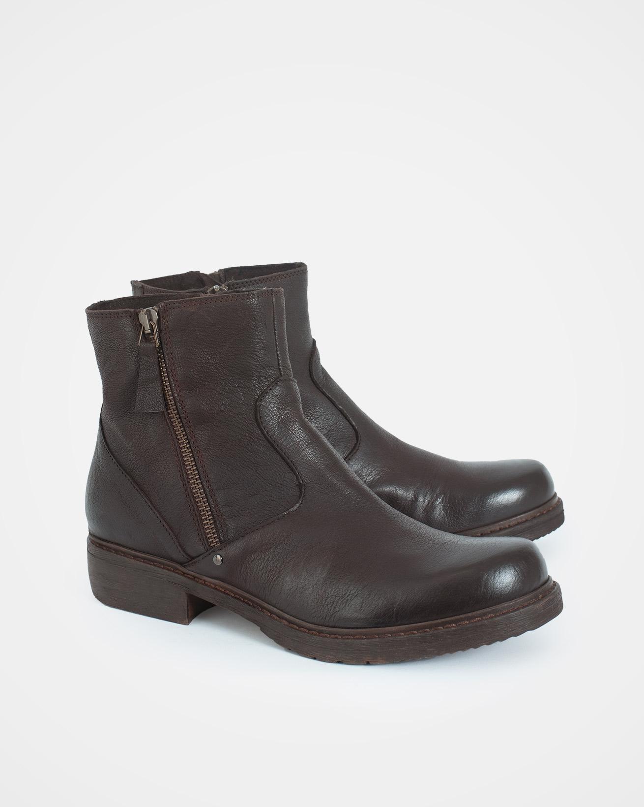Short double zipped boots - Size 38/37 - Ebony - 1729