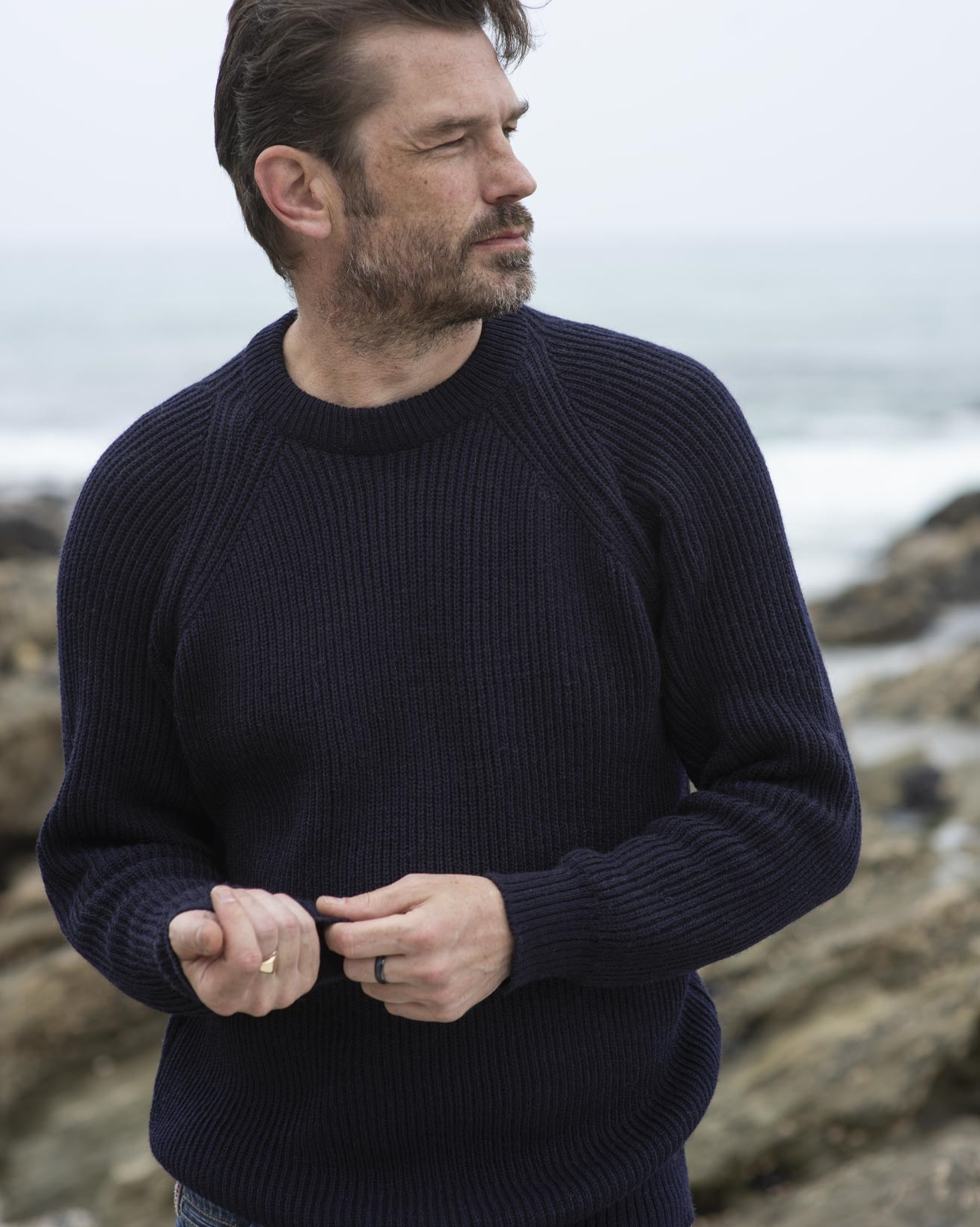 Men's Ribbed Fishermans Jumper