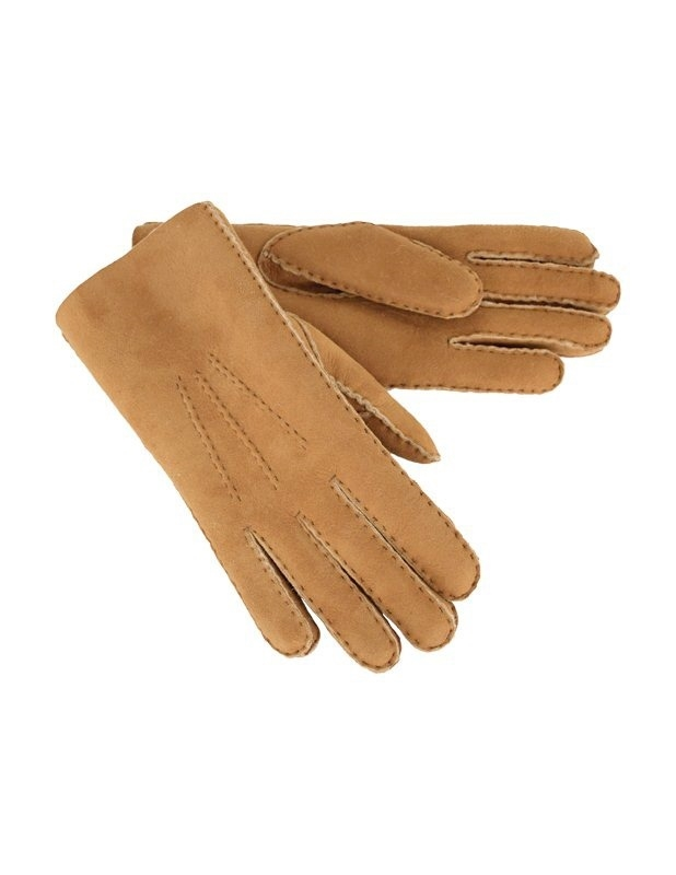 Sheepskin Gloves - Large - Spice - 1610