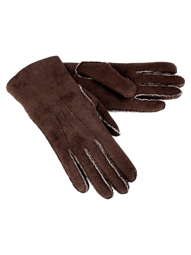 Sheepskin Gloves - Size Medium - Mocca - 2085