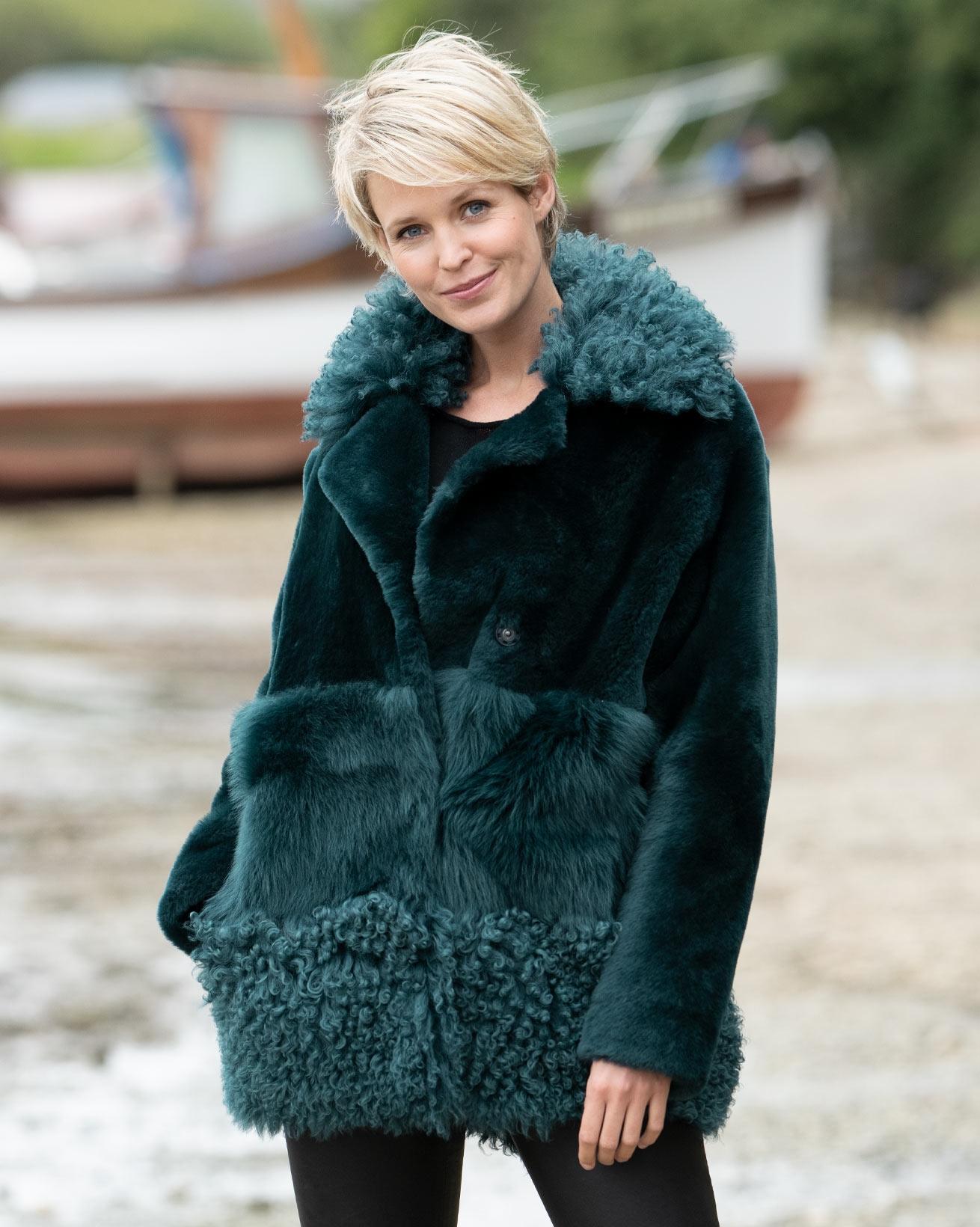 Patchwork Sheepskin Jacket