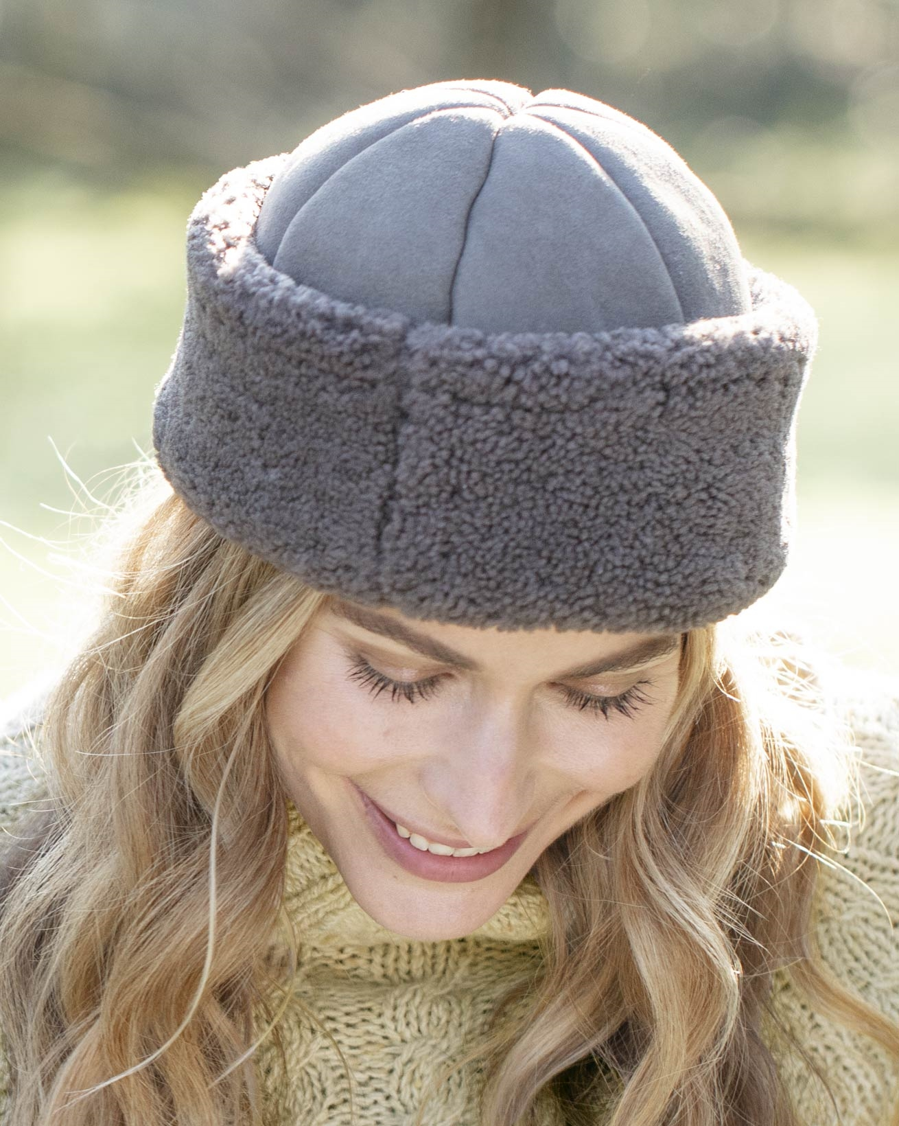Ladies Sheepskin Beanie