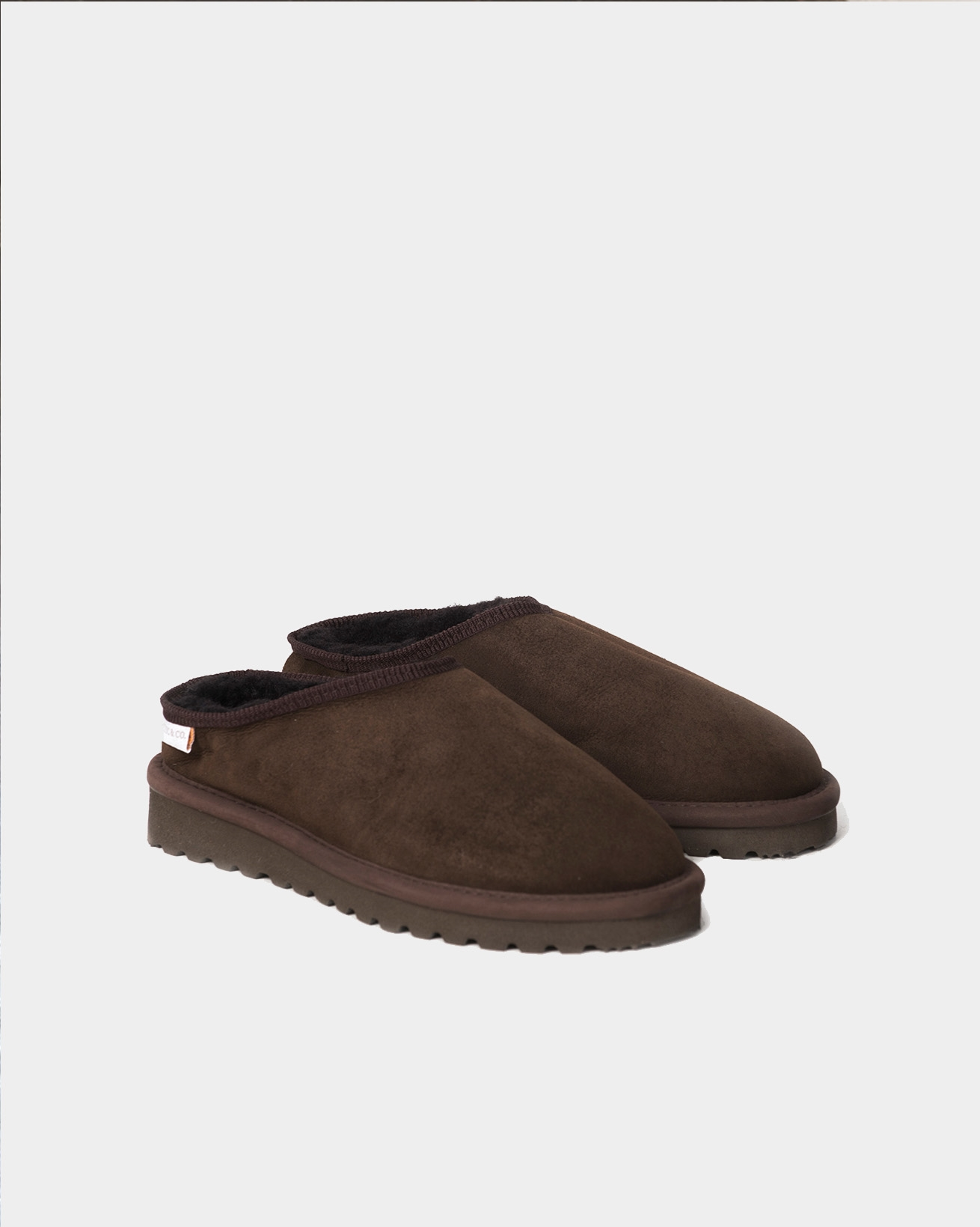 Mens Clogs with back - Size 7 - Mocca - 2013