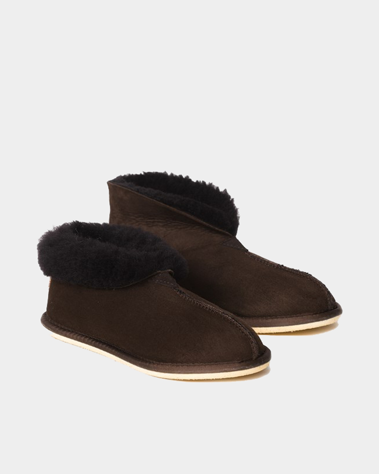 2100-ladies' sheepskin bootee slippers-mocca-1.jpg