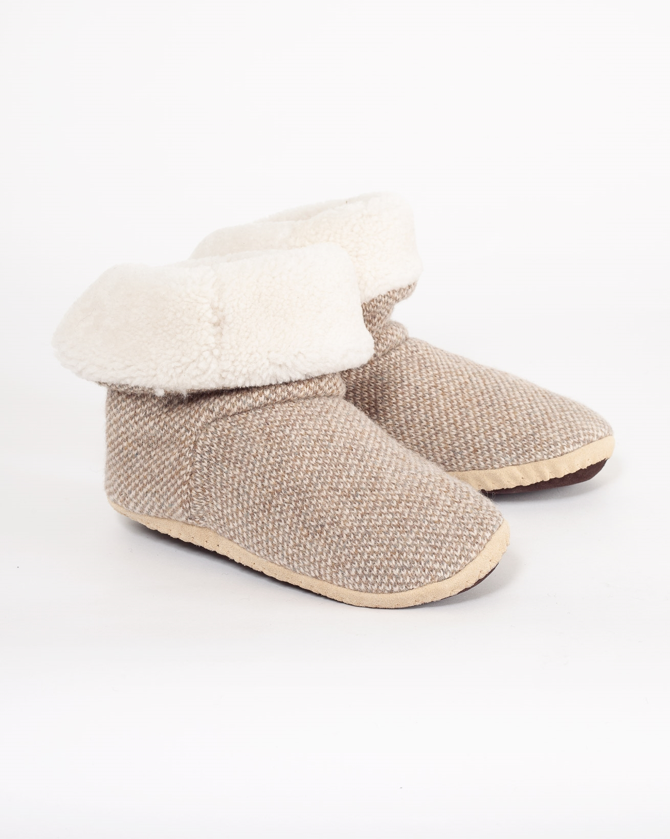 Soft Sole Slouch Boots - Size 5 - Pebble - 1006