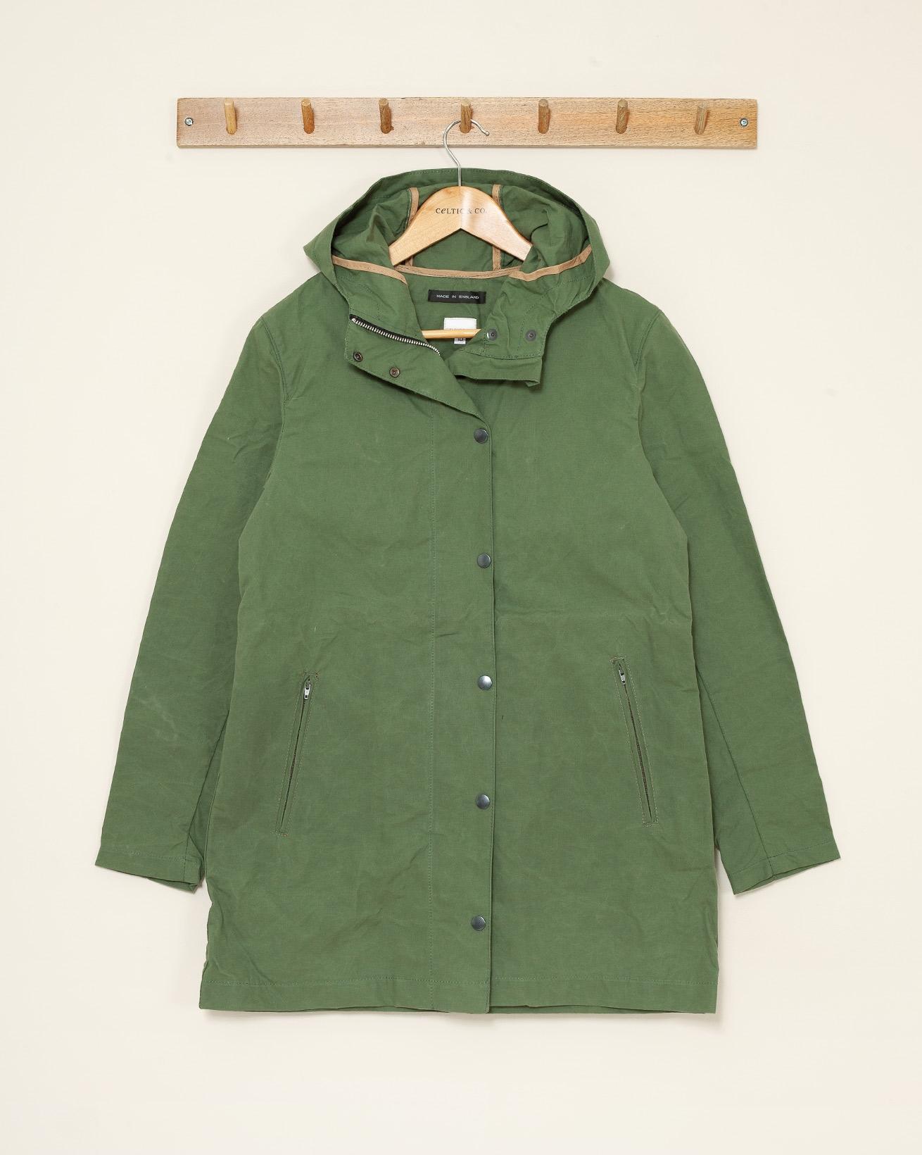 Unlined Wax Jacket - Size 10 - Moss Green - 1120