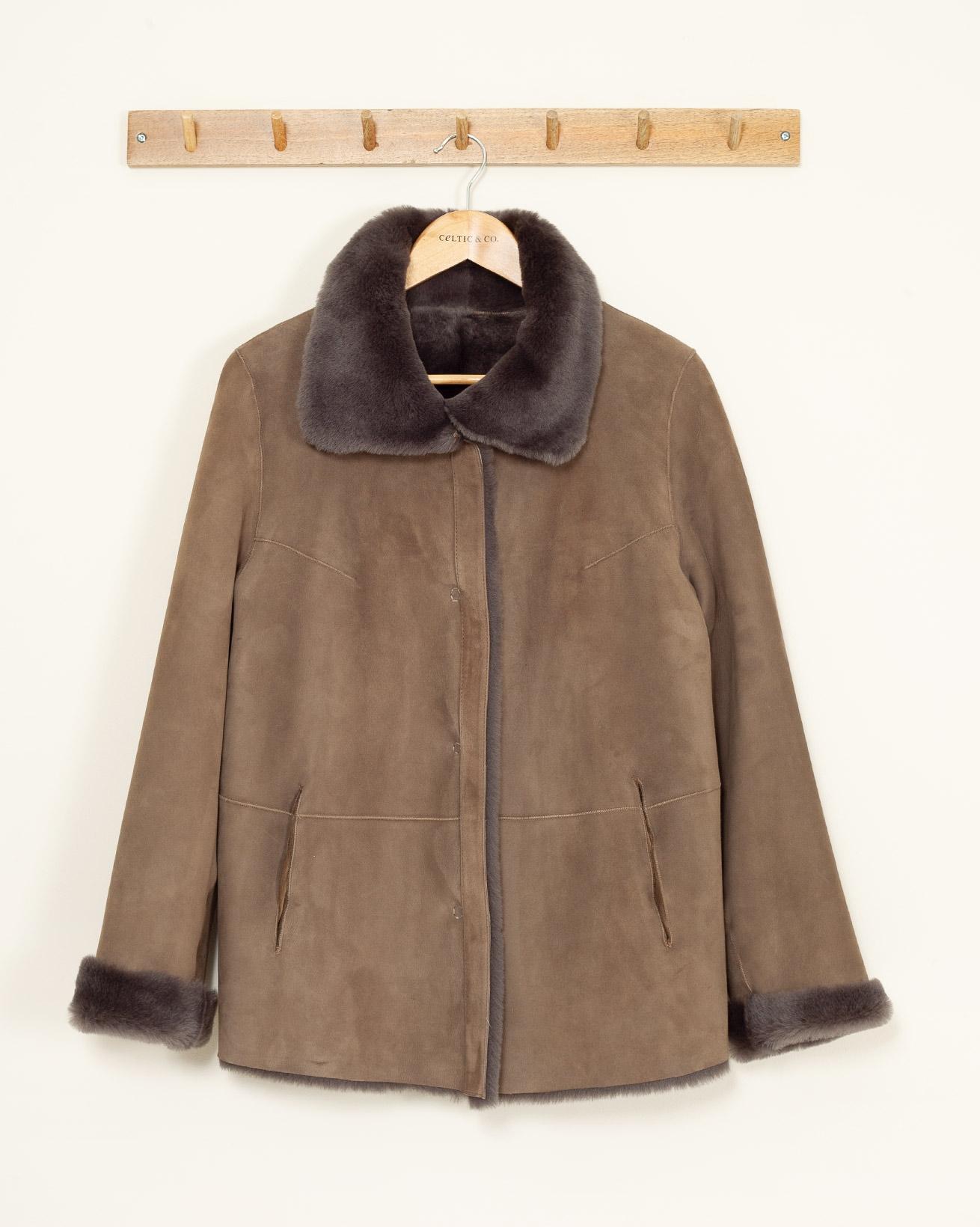 Sheepskin Jacket - Size 10 - Mouse - 1128