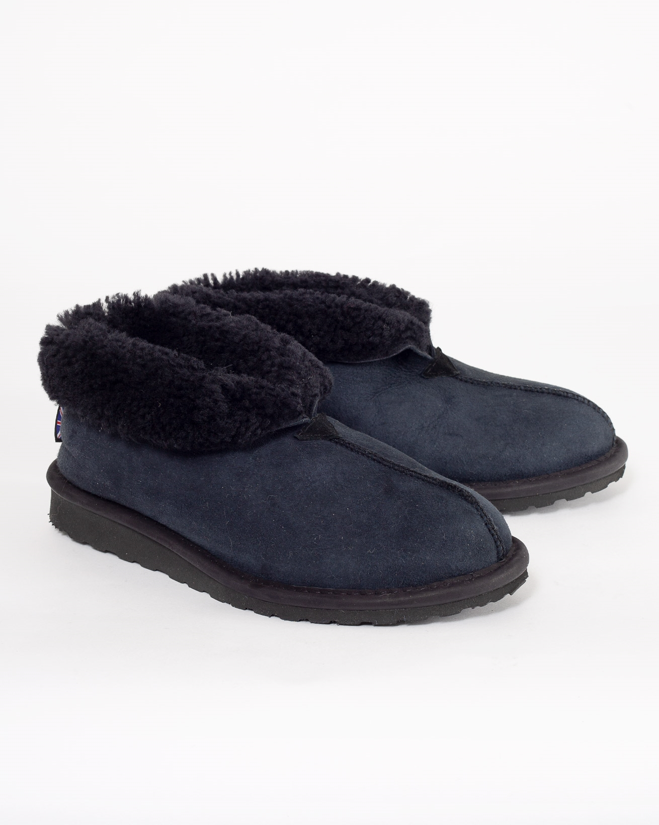 Men's Bootee Slippers - Size 8 - Navy - 884
