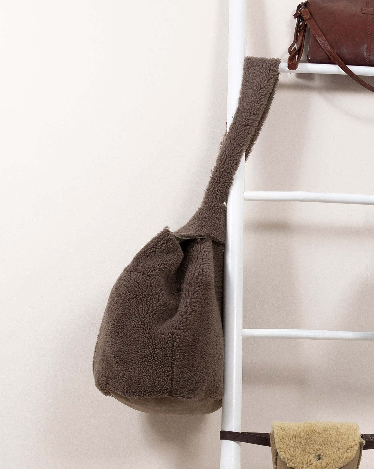 Sheepskin Japanese Knot Bag