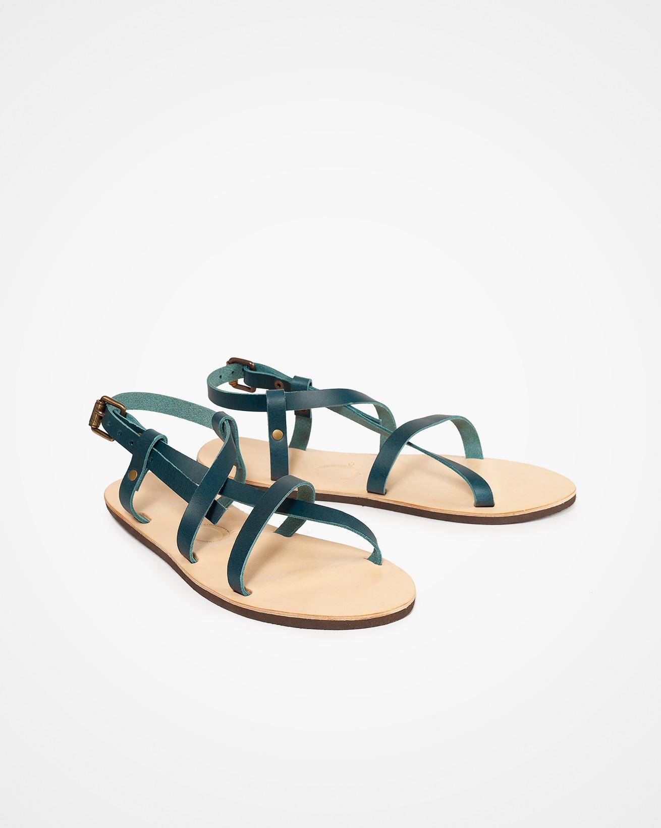 Open Toe Strappy Sandal - Icelandic Blue - Size 7 - 2486