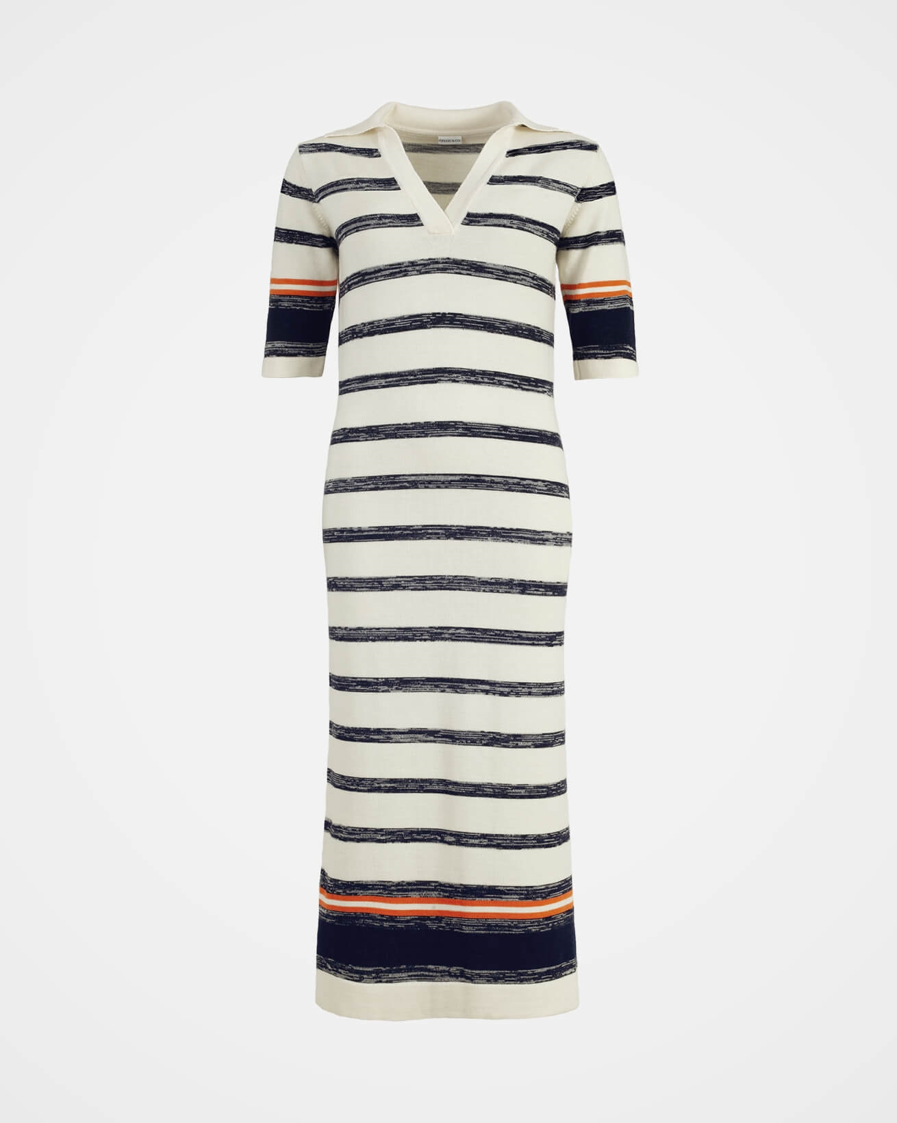 Merino Ombre Stripe Maxi Dress - Medium - Ecru Multi - 1445