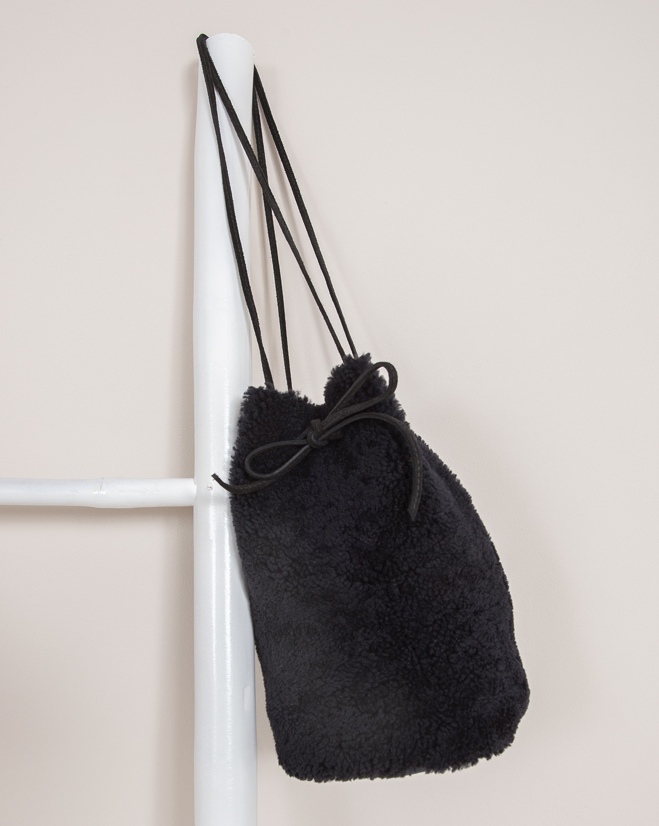 Shearling Drawstring Bag