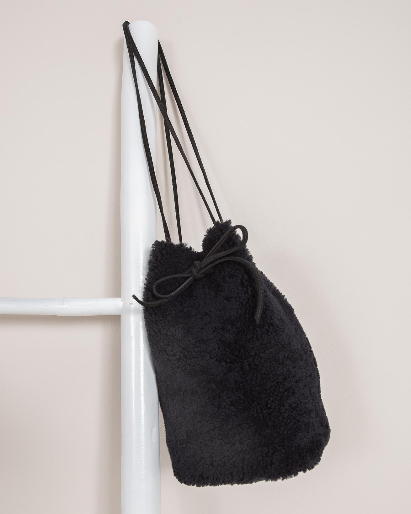Sheepskin Drawstring Bag