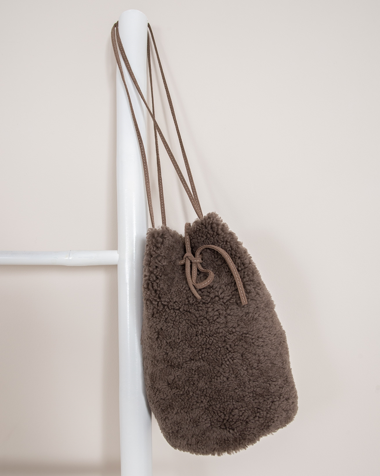 Sheepskin Drawstring Bag
