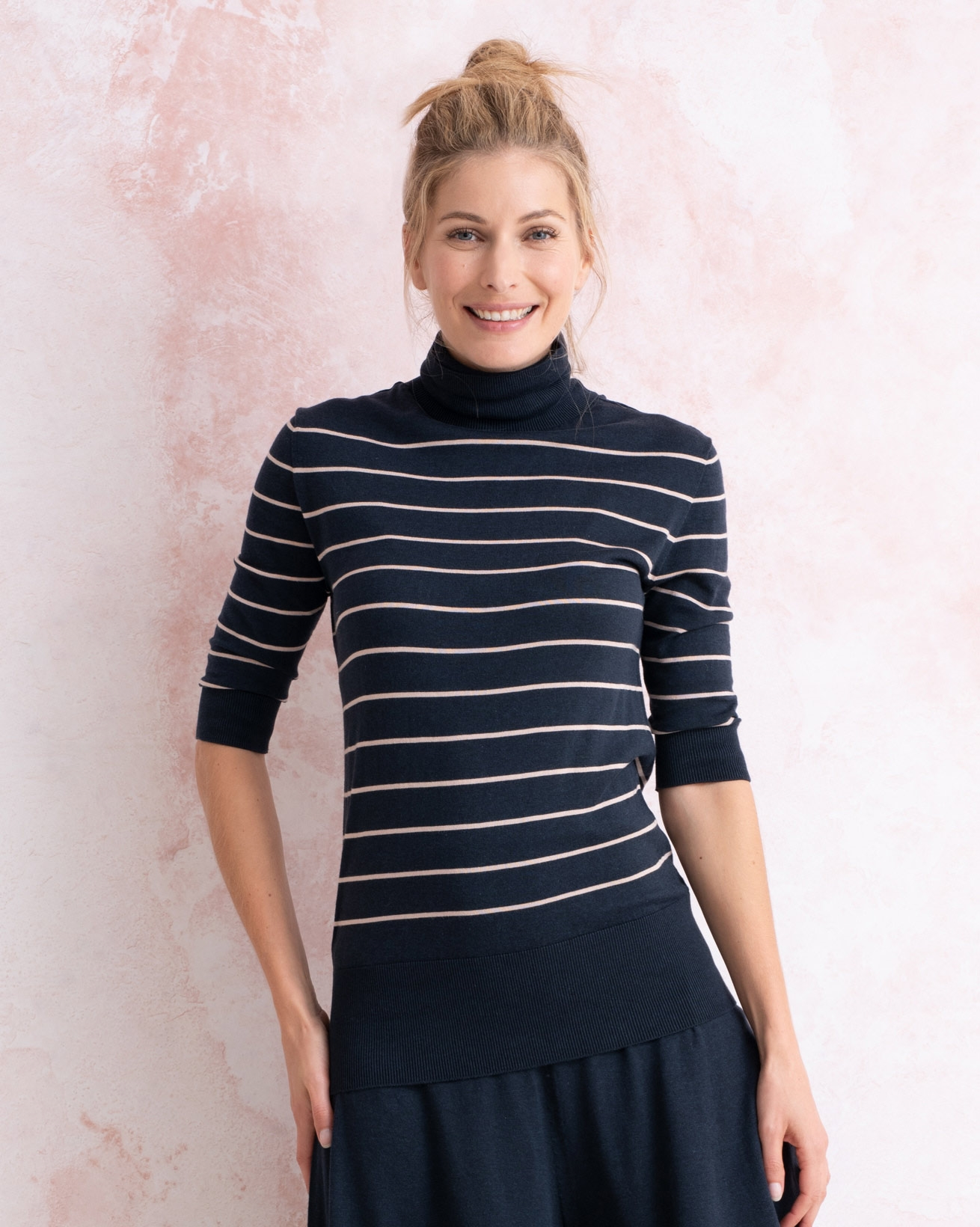 Eco Cotton Roll Neck