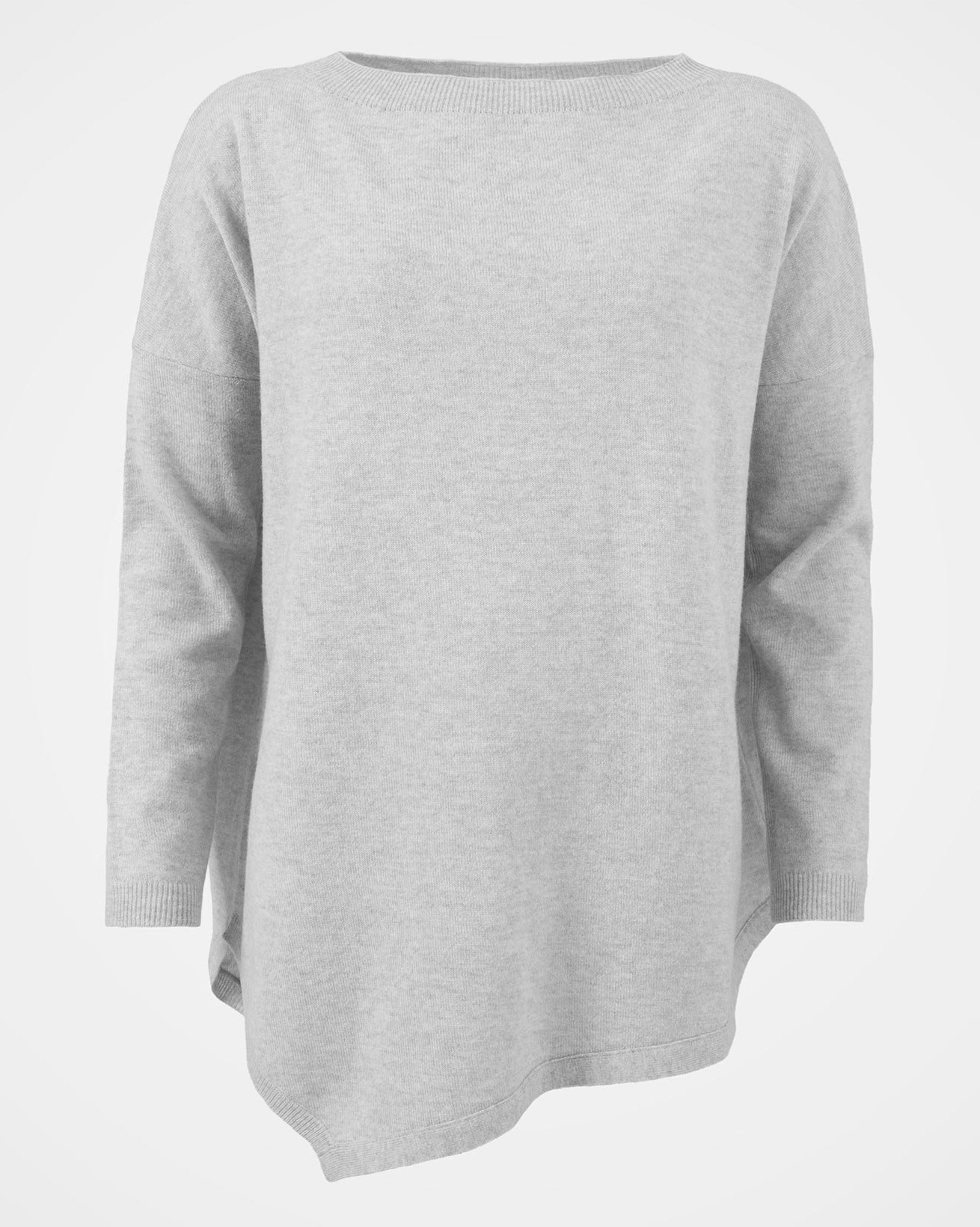 Geelong Asymetric Tunic - Size Medium - Pearl Grey - 1547