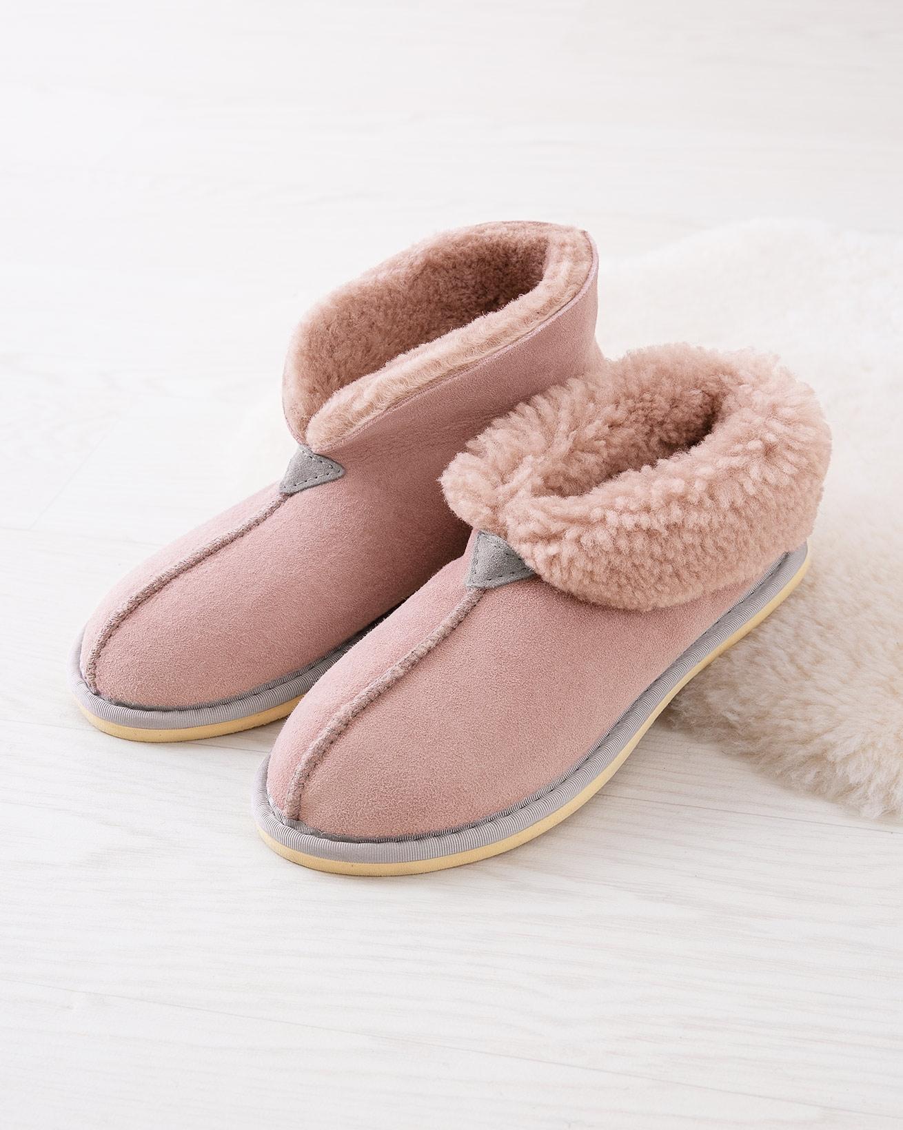 Ladies' Sheepskin Bootee Slippers