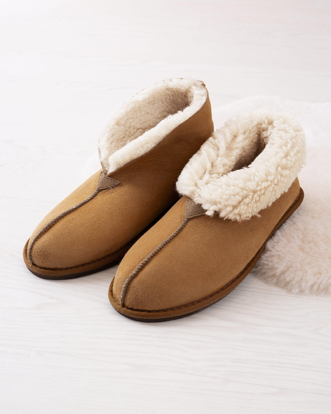 Men's Shearling Bootee Slipper