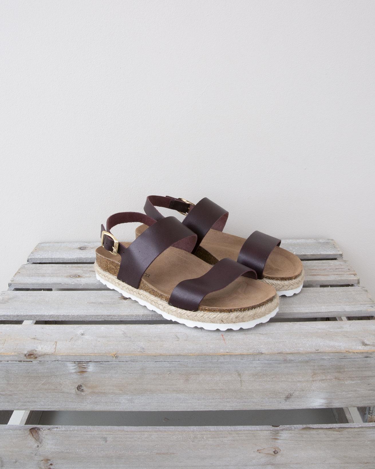 Strappy Sandal - Size 37 - Claret - 1329