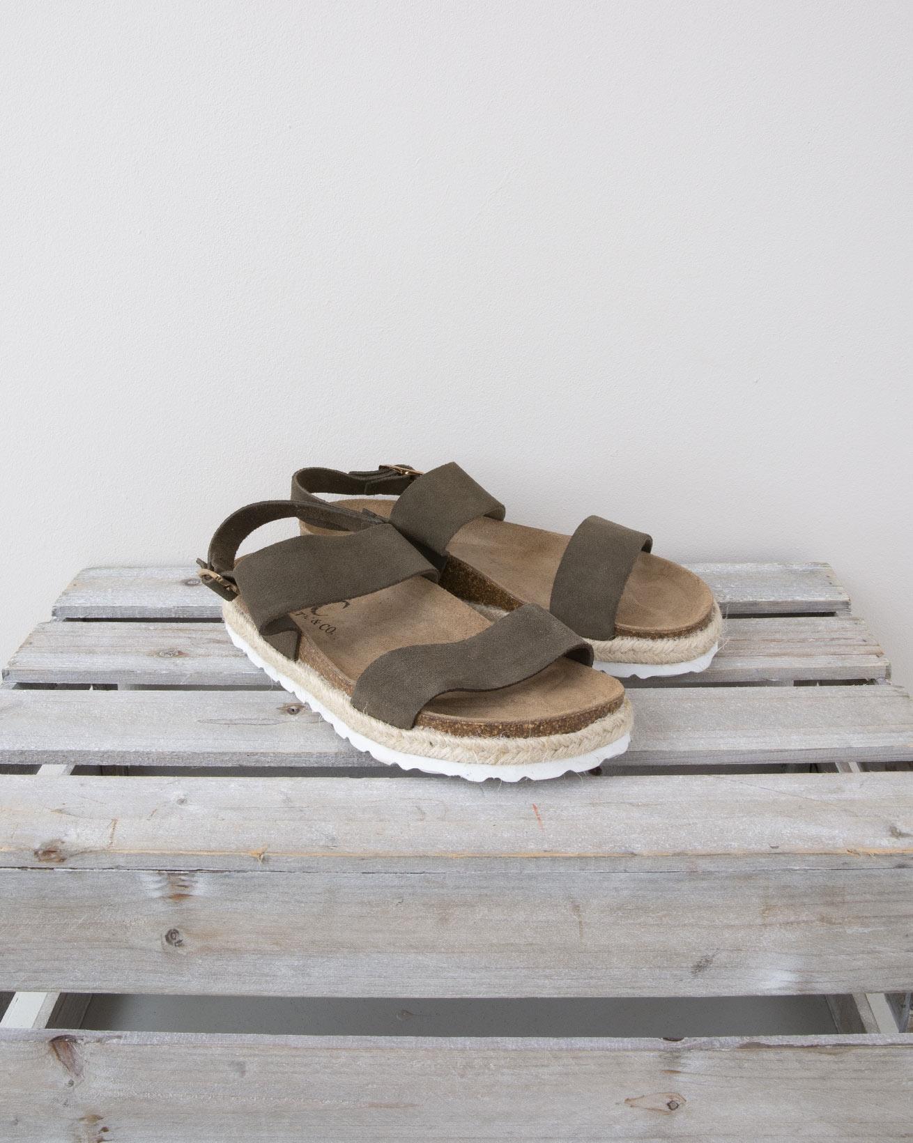 Strappy Sandal - Size 37 - Olive - 1330