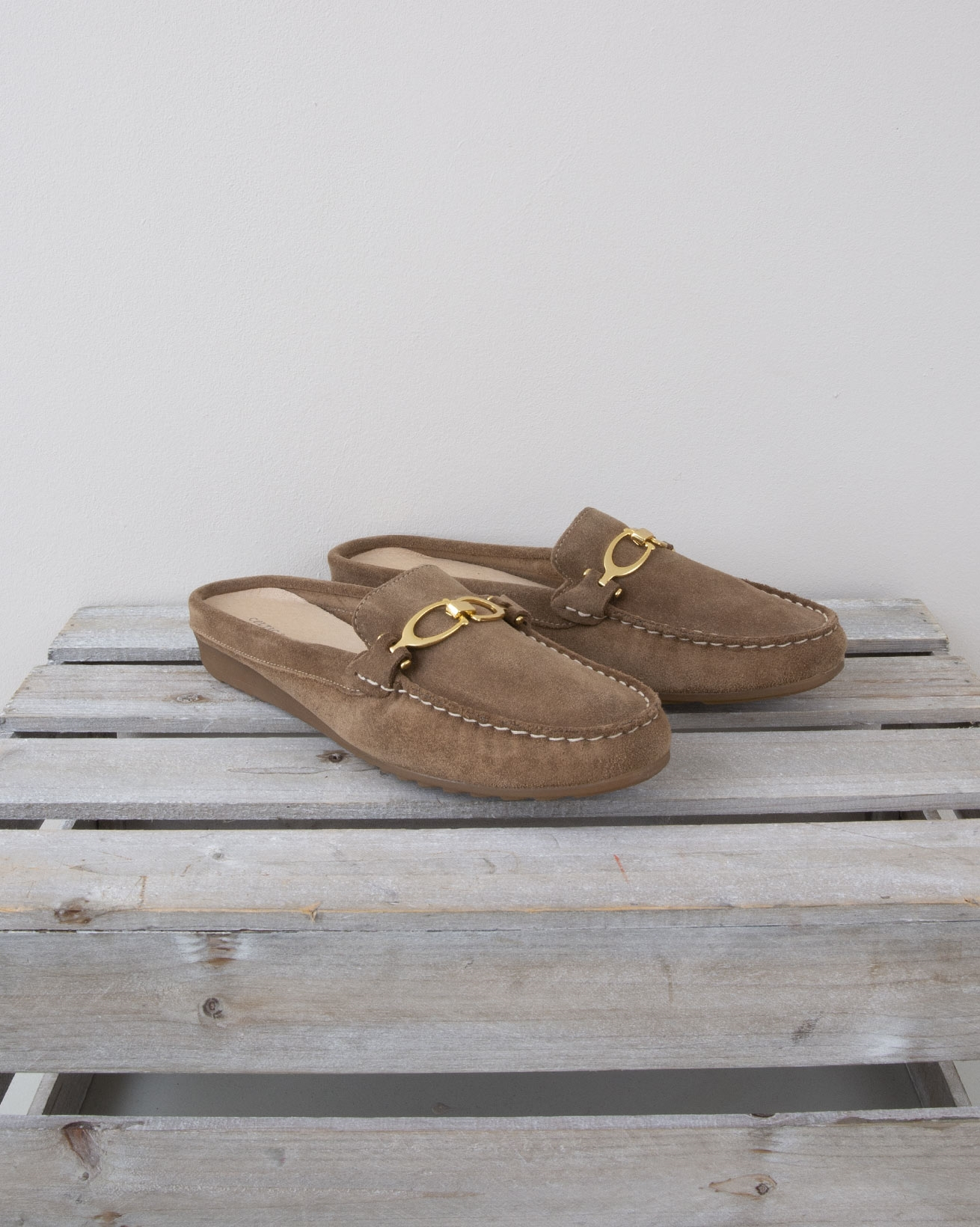 Slip on Loafer Mule - Size 40 - Tan - 1333