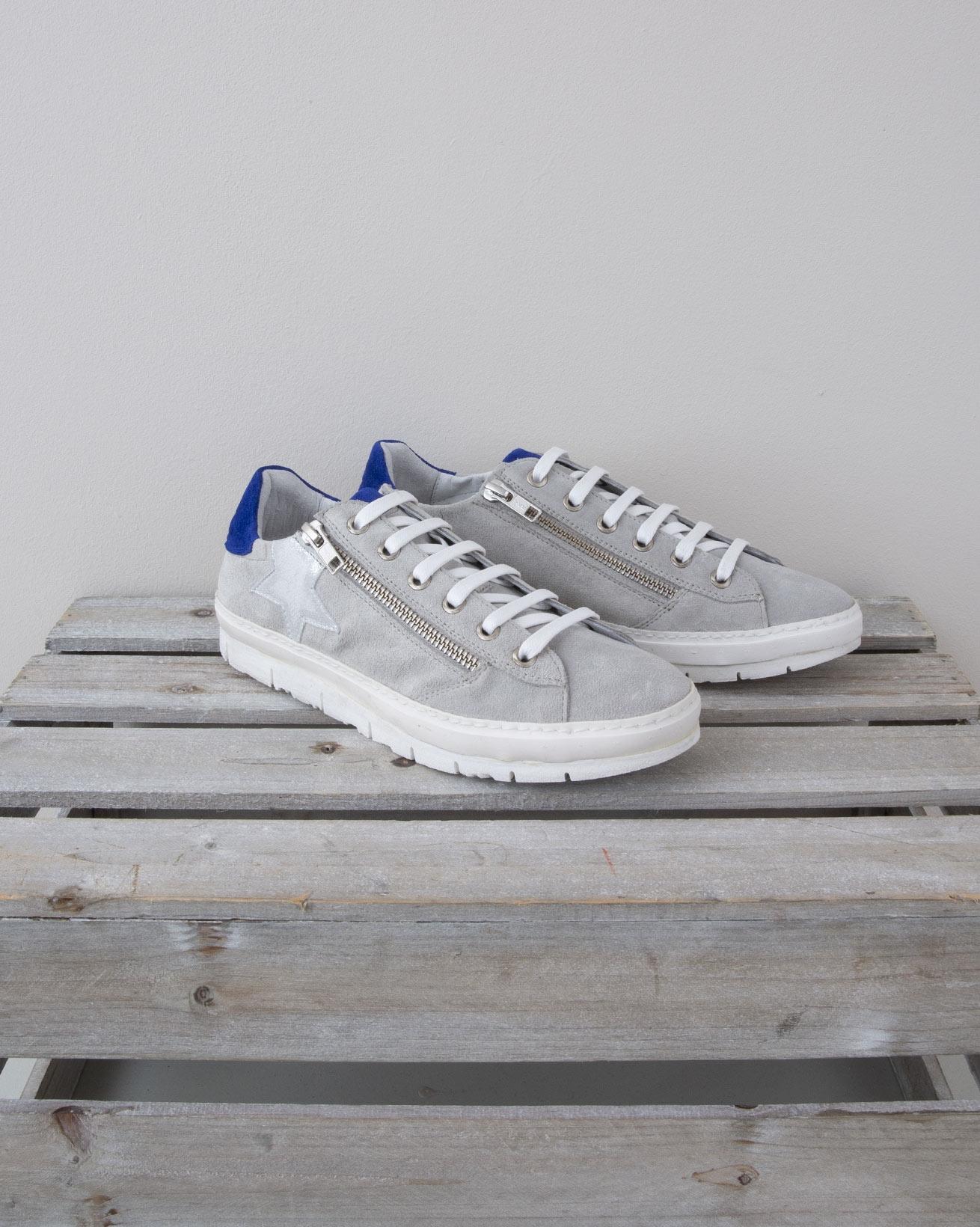 Embellished Trainer - Size 37 - Grey & Cobalt - 1334