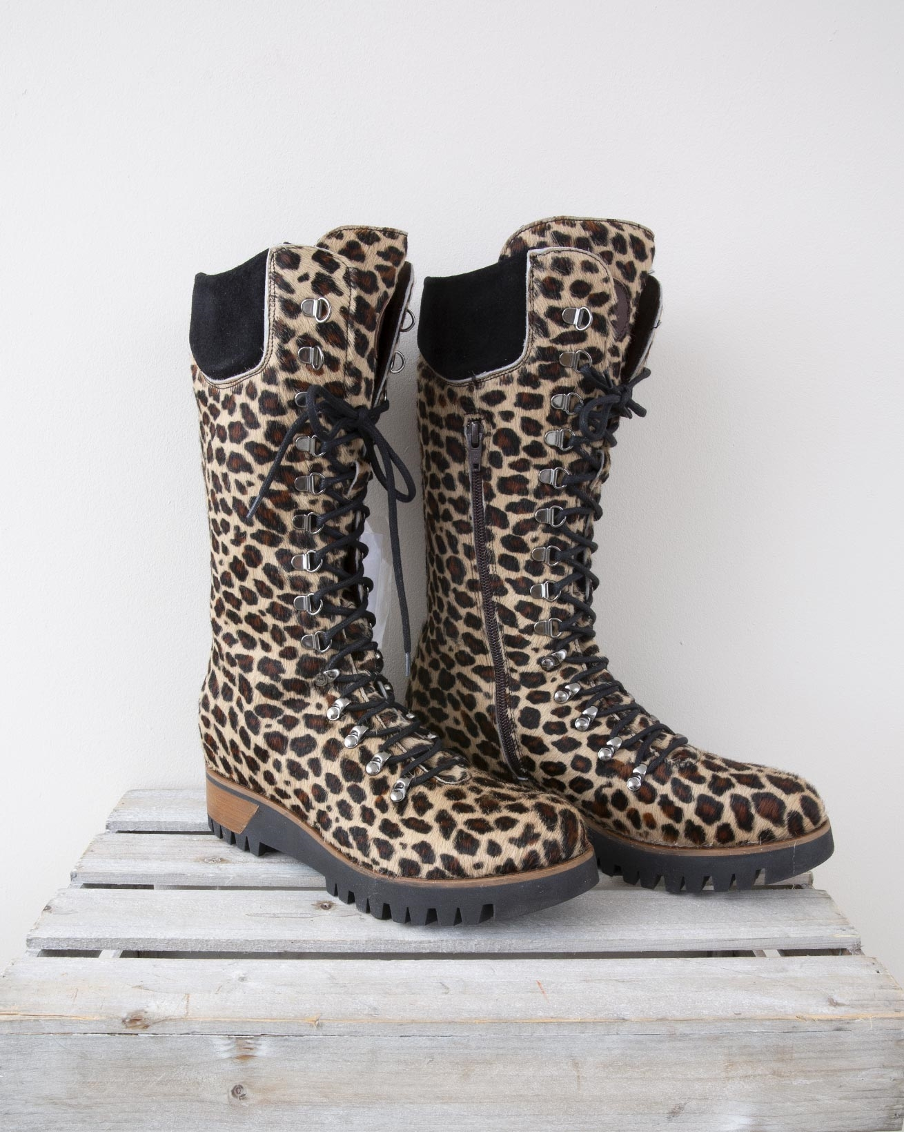 Pony Skin Wilderness Boot - Size 40 - Leopard - 1343
