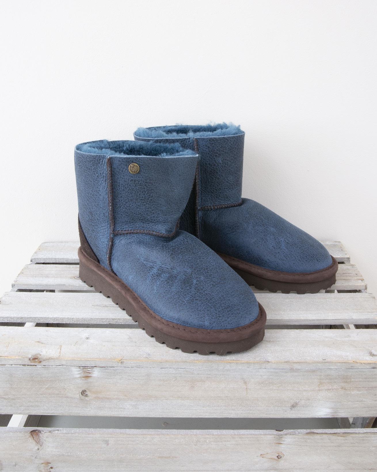 Celt Boot Shortie - Size 6 - Icelandic Blue Nappa finish - 1351