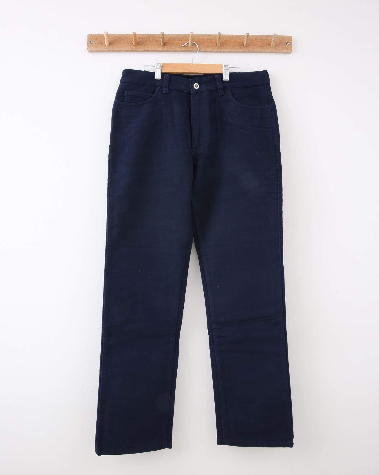Mens Moleskin Trouser - 34 Regular - Midnight Blue - 1356