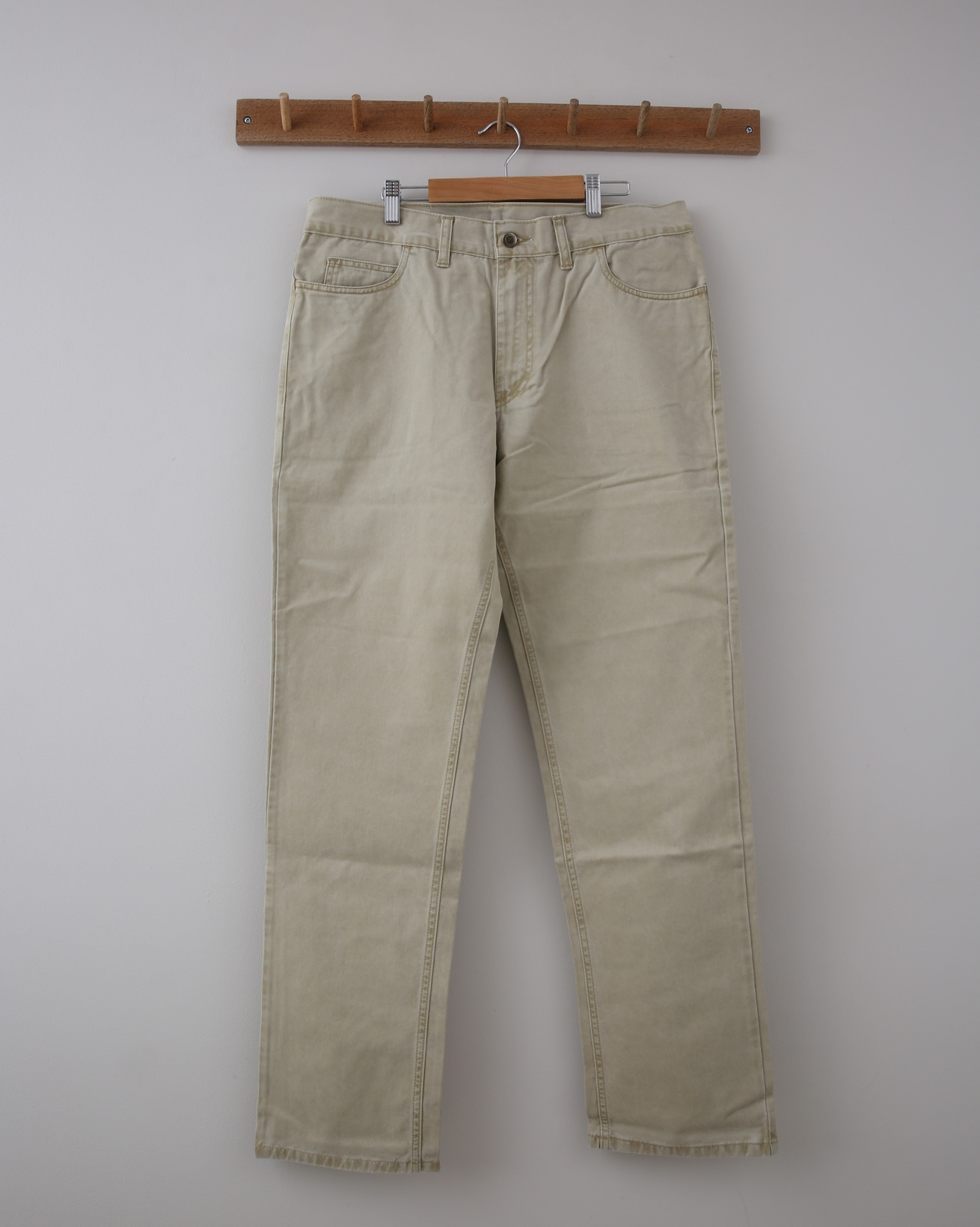 Mens Cotton Trouser - 34 Regular - Sahara Sand - 1358