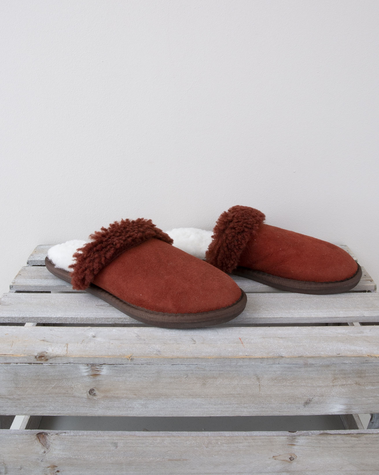 Ladies Turnback Mules - Size 6 - Conker - 972