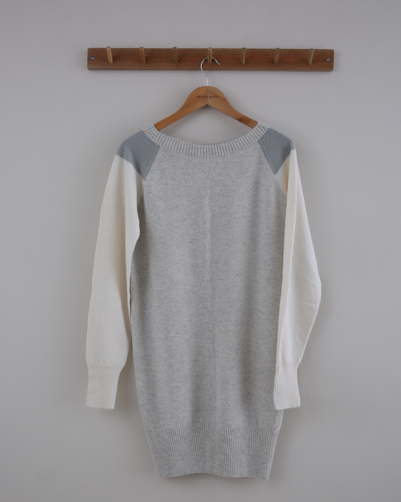 Supersoft Slouch Dress - Small - Fossil Colourblock - 1390