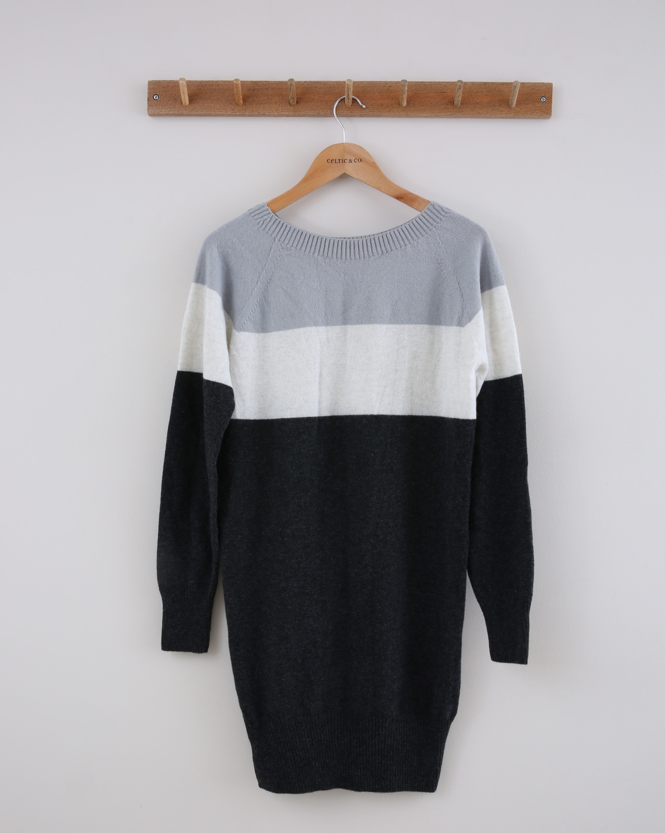 Supersoft Slouch Dress - Small - Charcoal Colourblock - 1391
