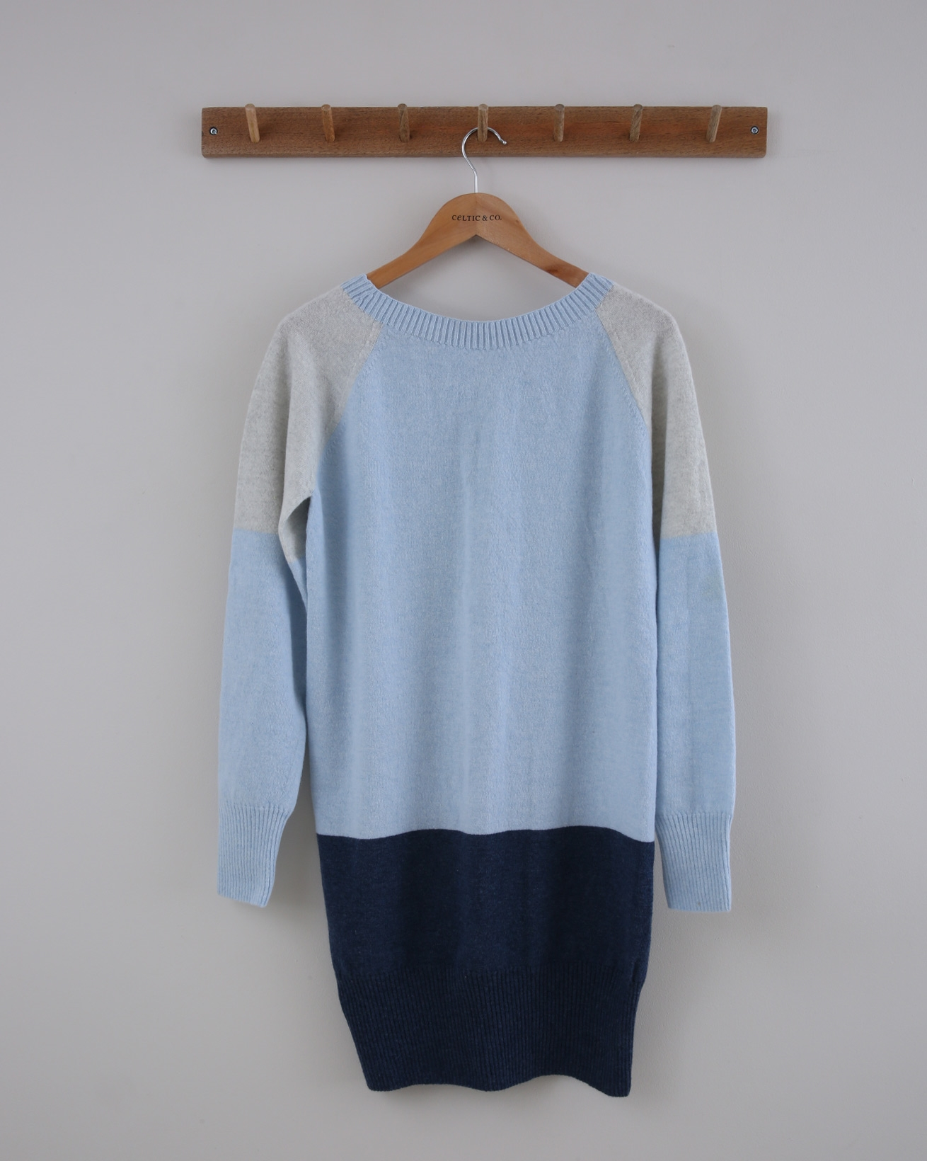 Supersoft Slouch Dress - Small - Blue Colourblock - 1392