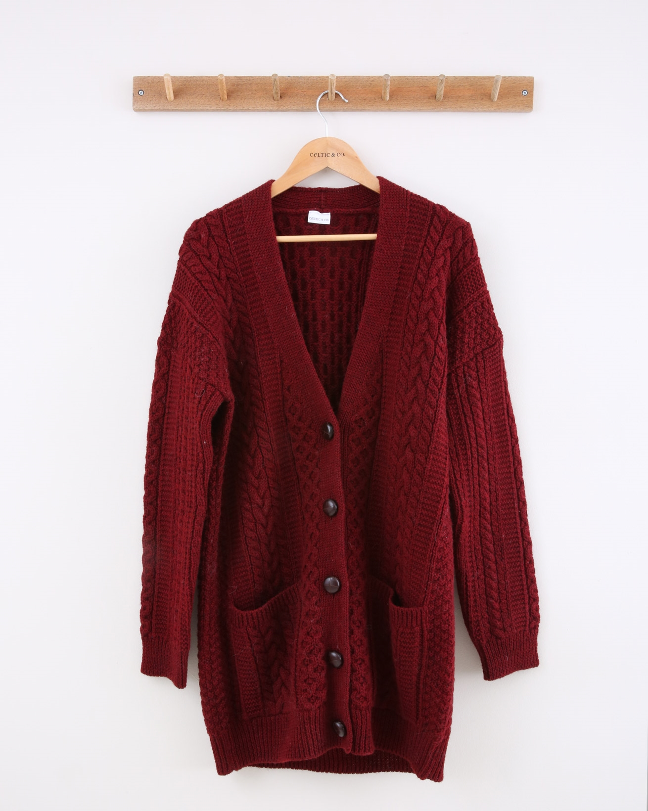 Boyfriend Cardi - Small - Sloeberry - 1425