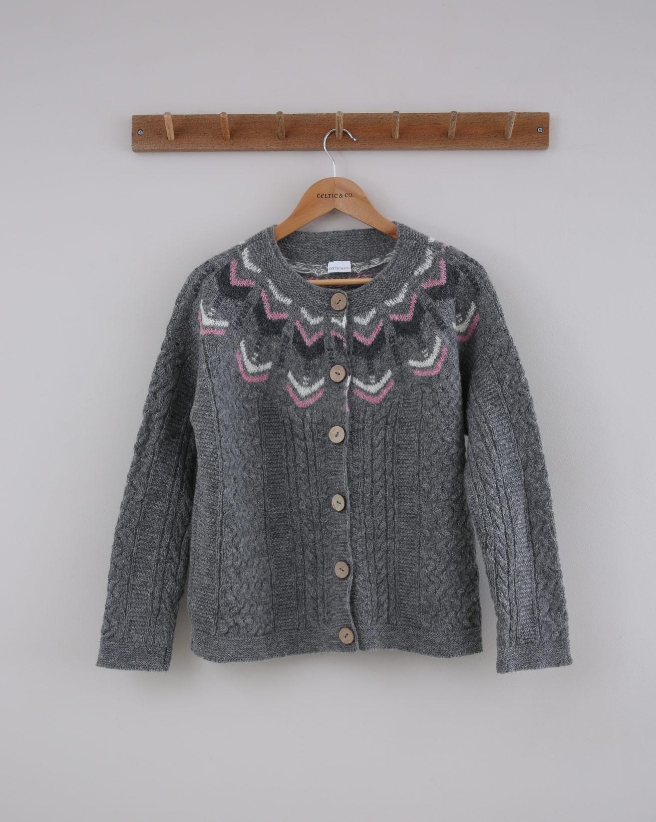 Yarn Twist Cardi - Small - Silver Grey - 1429
