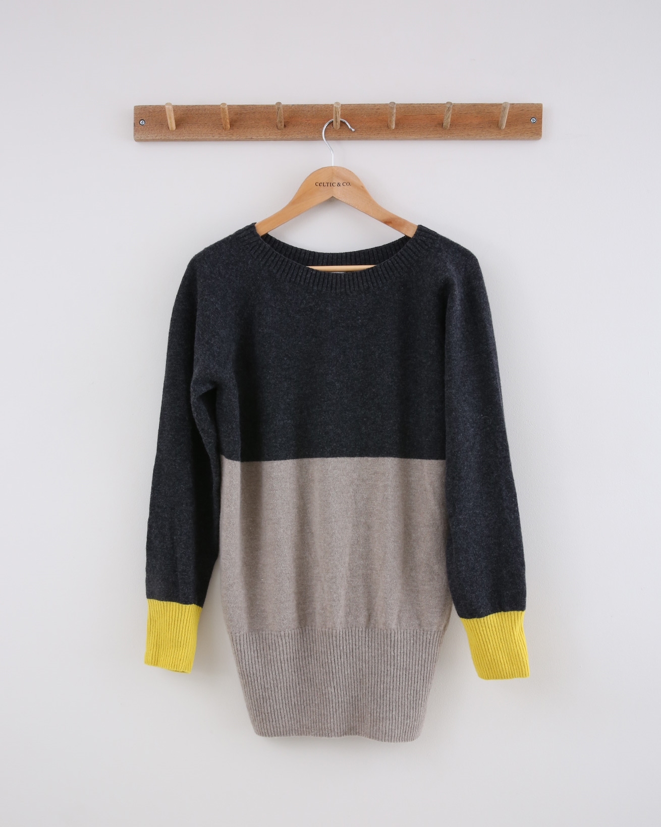 Supersoft Slouch Jumper - Small - Grey Ombre Cuff - 1434