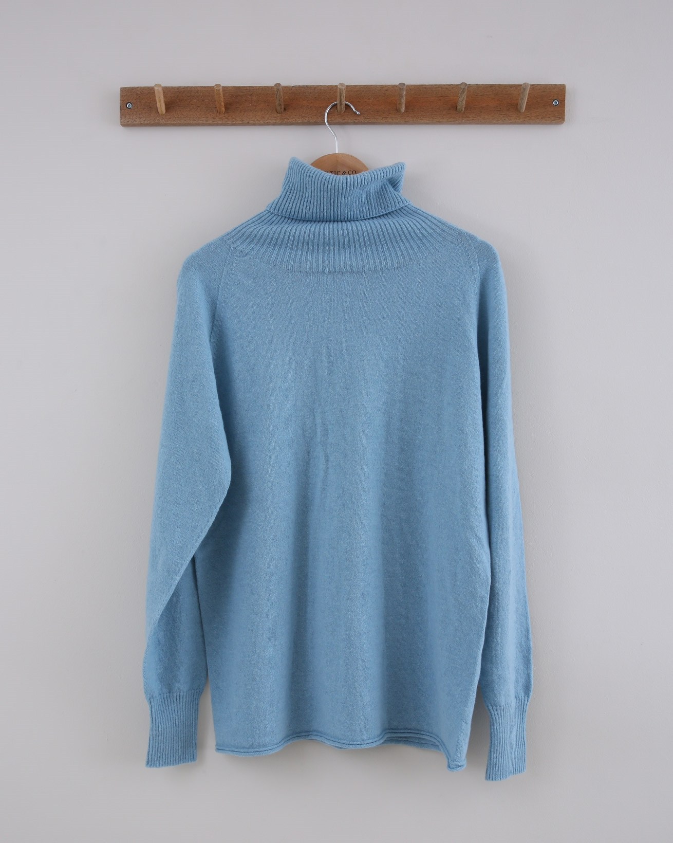 Geelong Slouch Roll Neck - Small - Vintage Blue - 1438