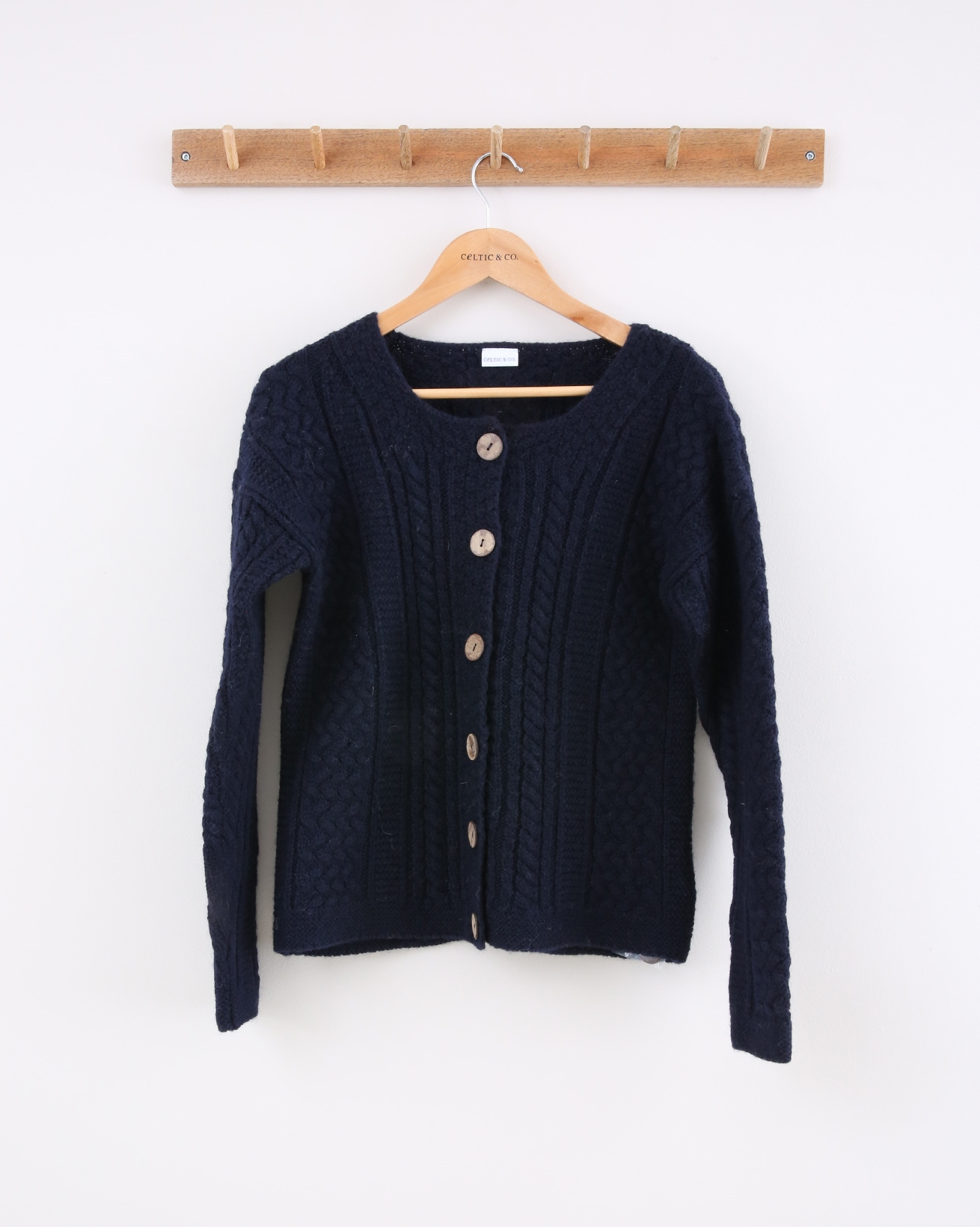 Cable Cardi - X-Small - Navy - 1442