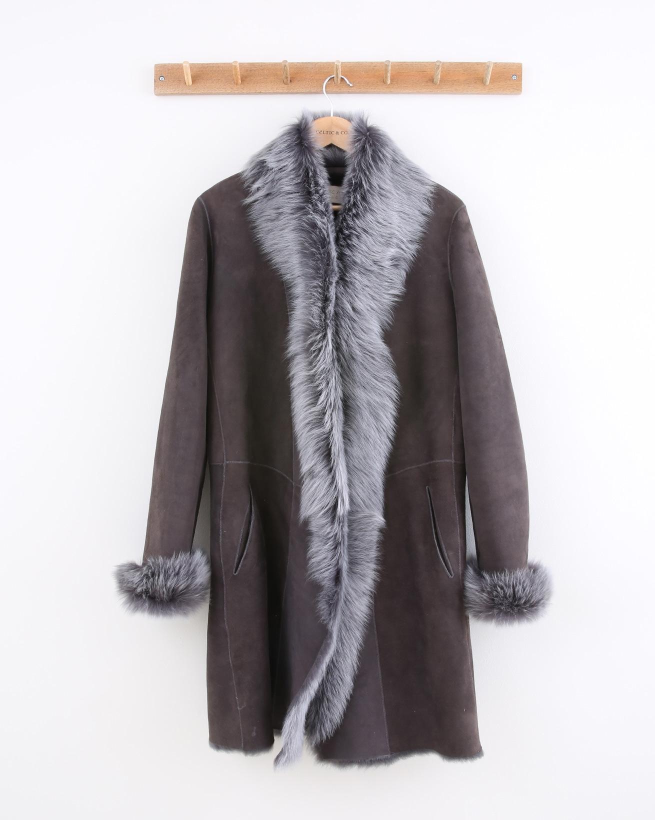Three Quarter Toscana Trim Coat - Size 10 - Otter - 1479
