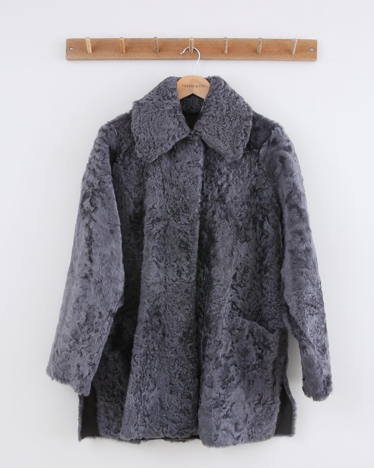 Persian Reversible Cape Coat - Size 10 - Grey - 1494
