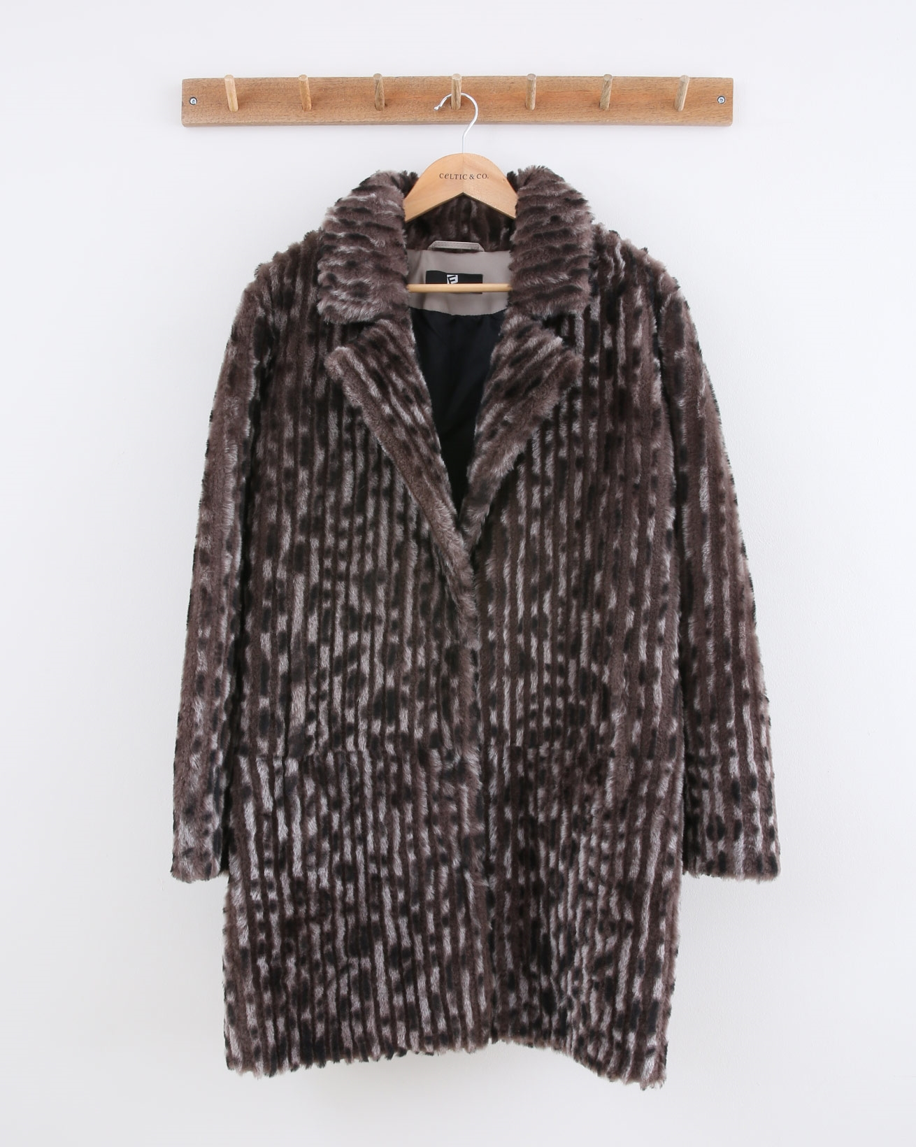 Imitation Mink Sheepskin Coat - Size 10 - Vole - 1496