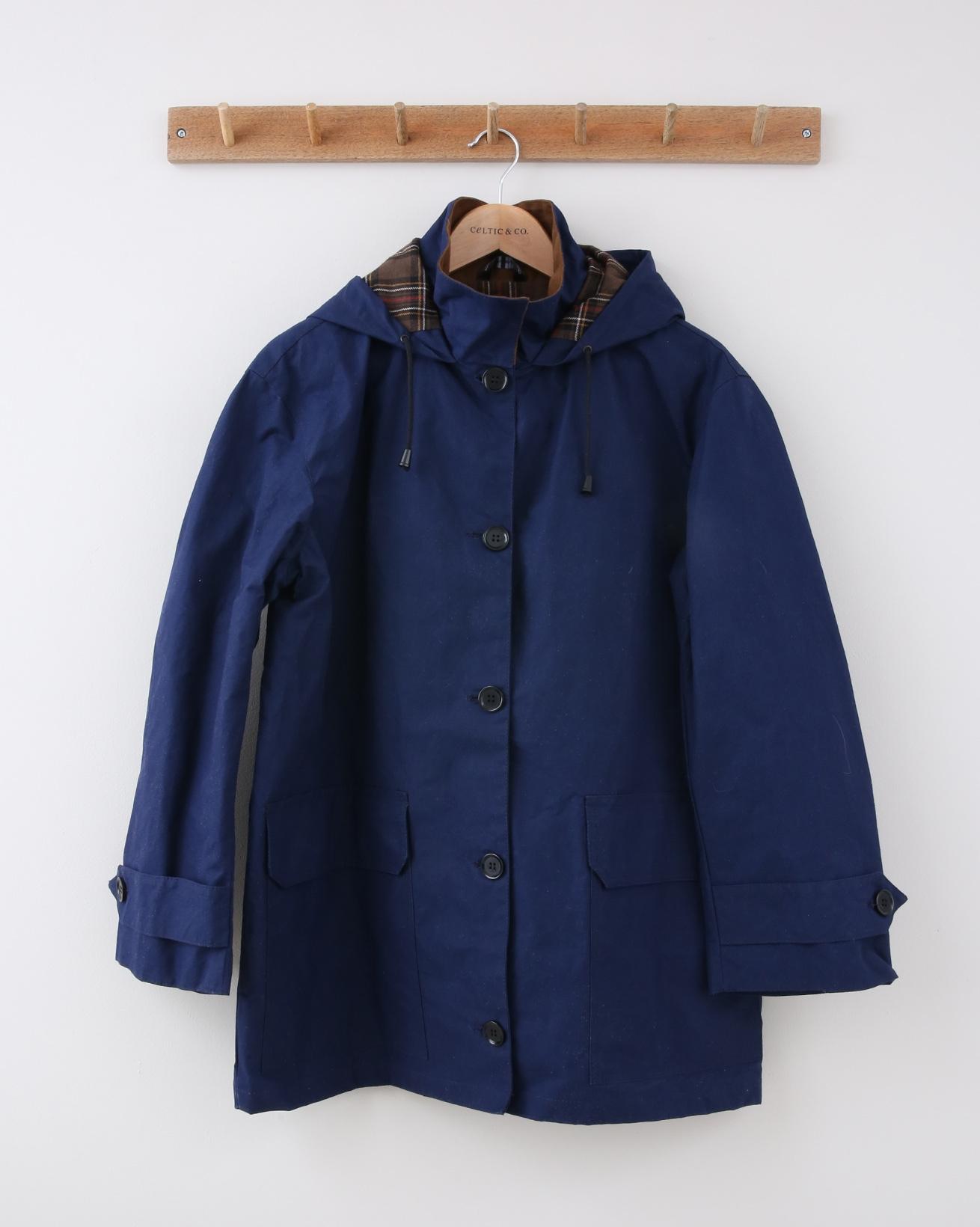 Hybrid Aero Wax Cotton Jacket - Size 10 - Blue - 1498