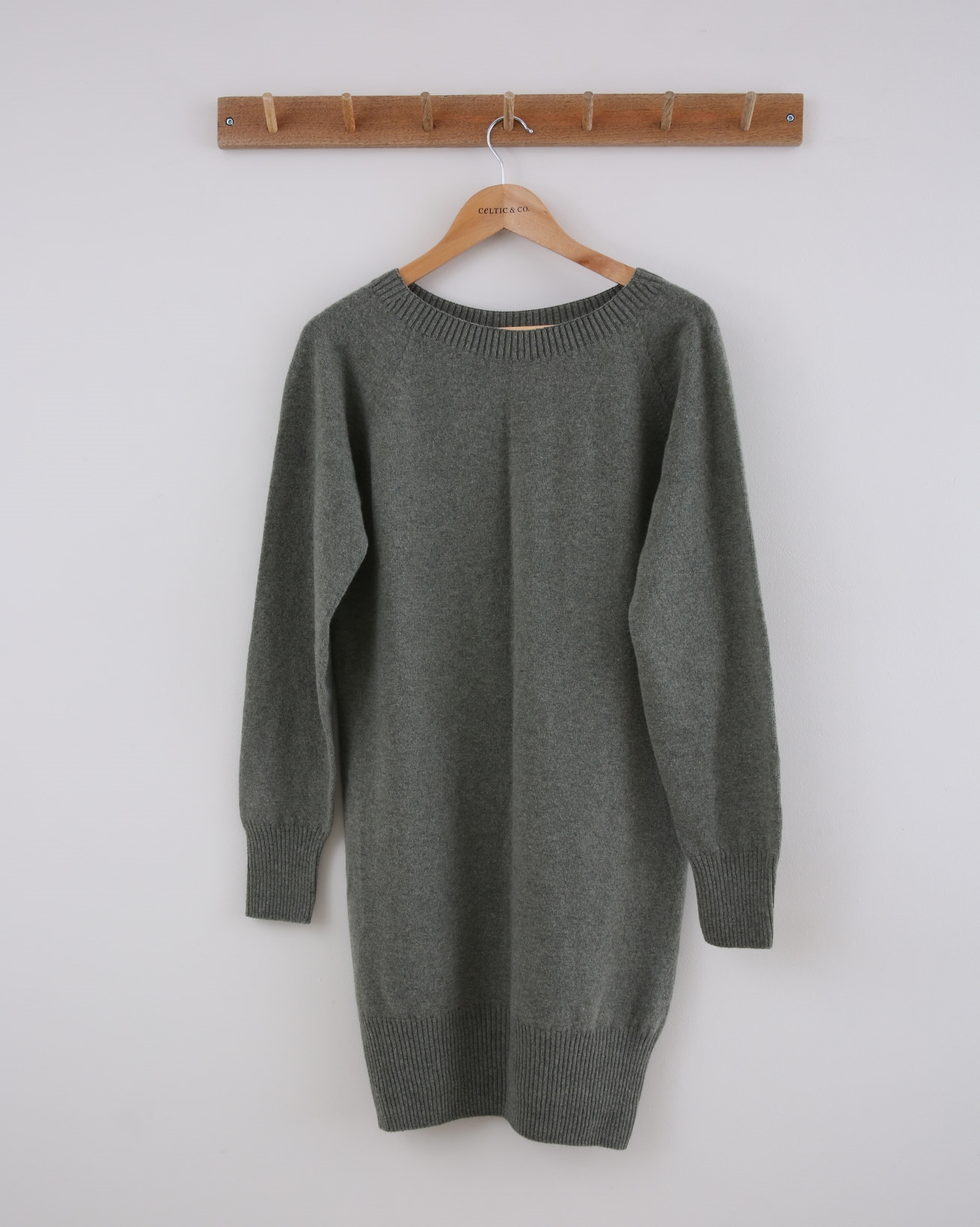 Supersoft Slouch Dress - Size Small - Sage - 1521