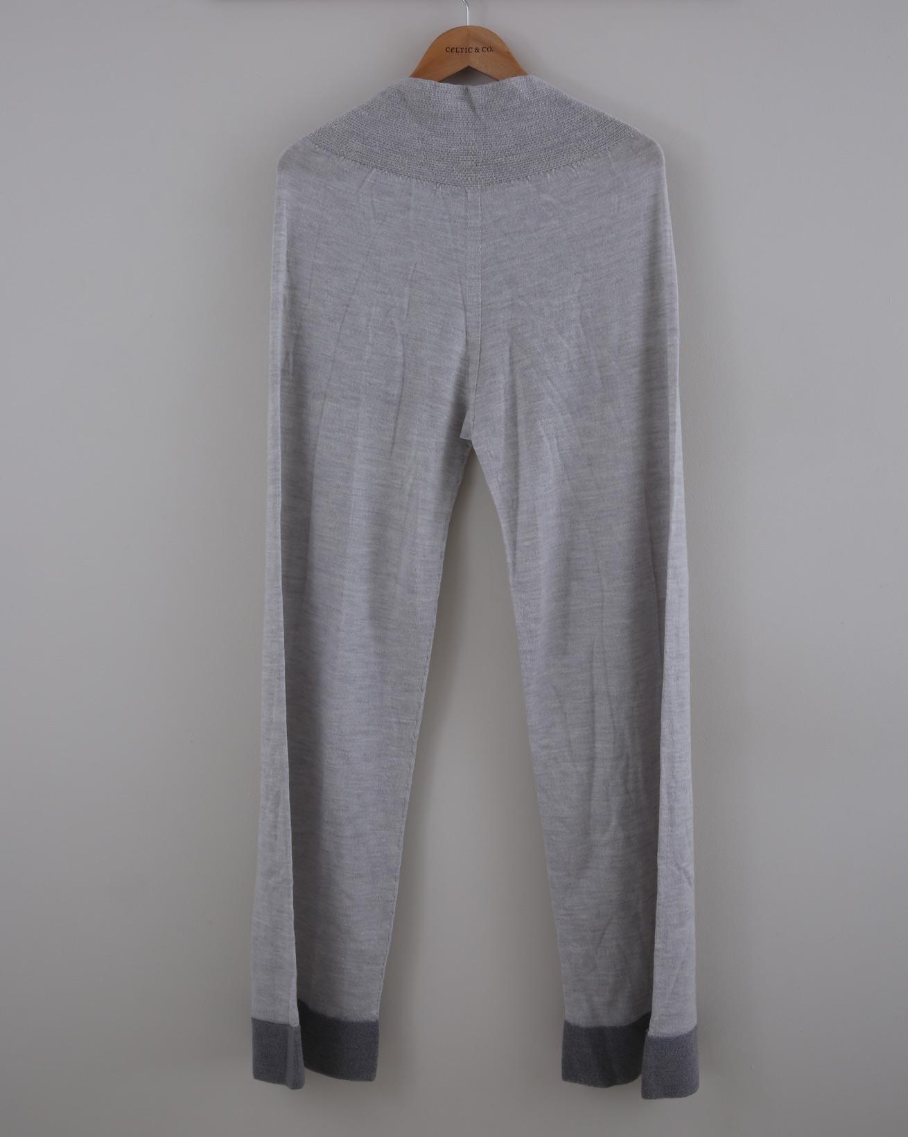 Wide Leg Merino Lounge Pants - Size Small - Grey - 1522