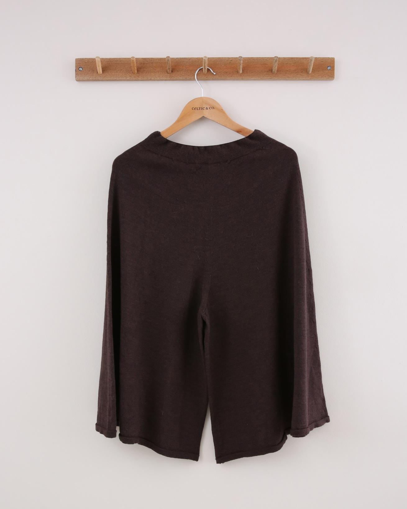 Merino Culottes - Size Small - Brown - 1523