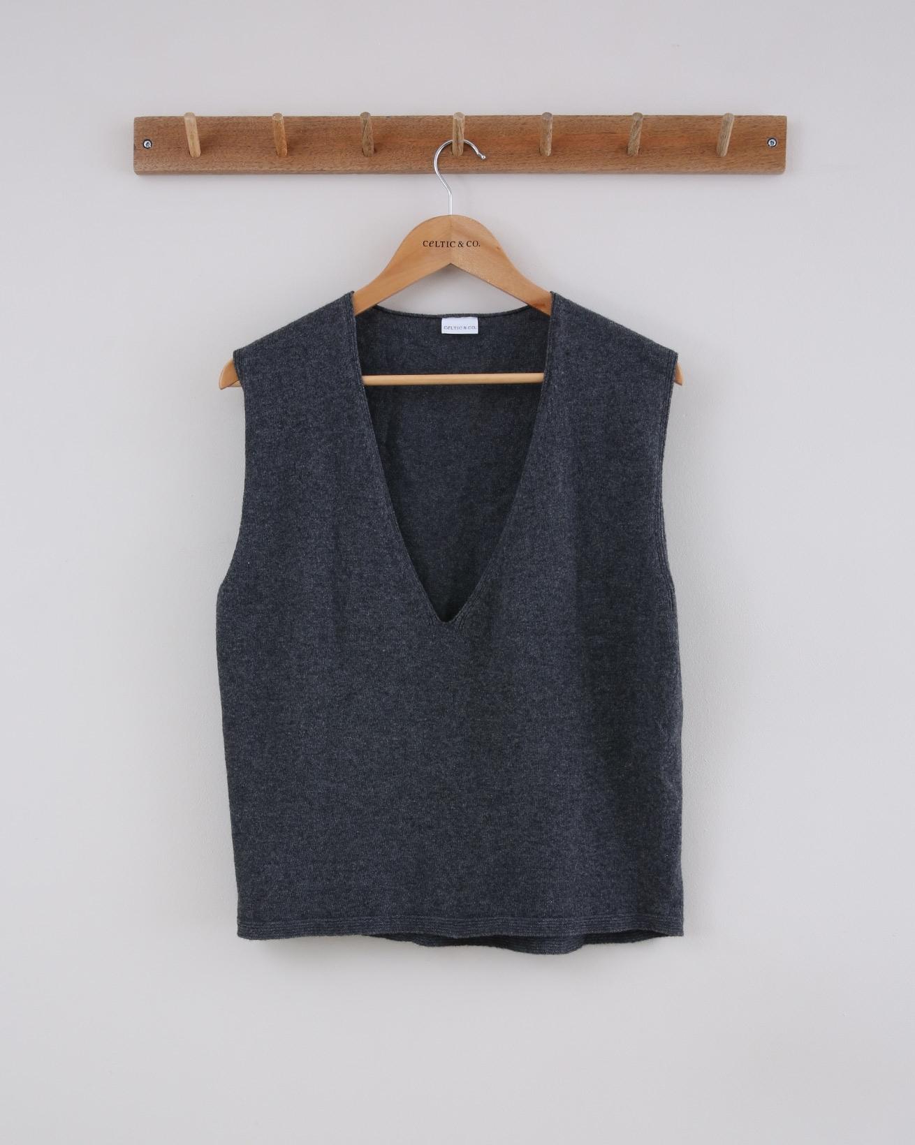 Merino Vest - Size Small - Charcoal- 1524