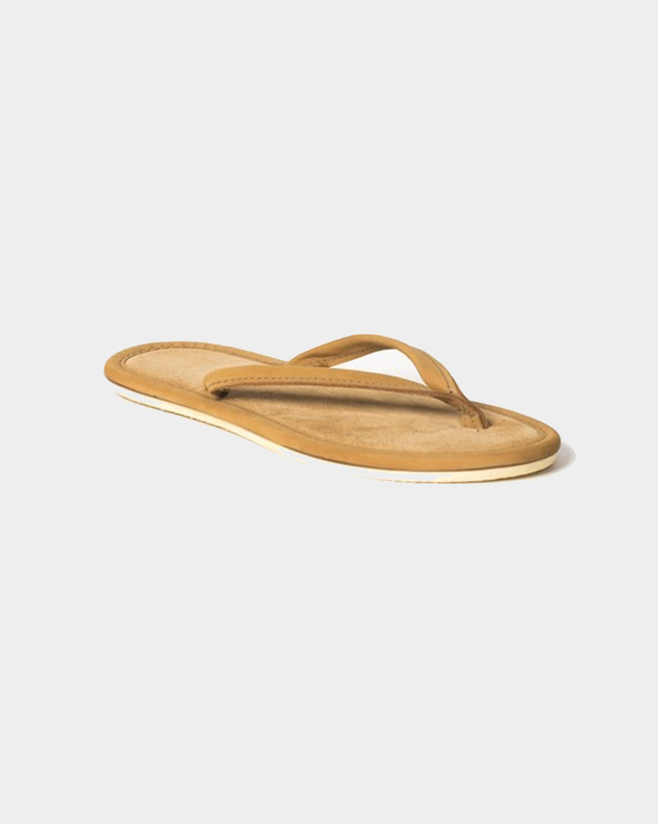 Nubuck and Suede Flip Flop - Size 6 - Tan - 1585