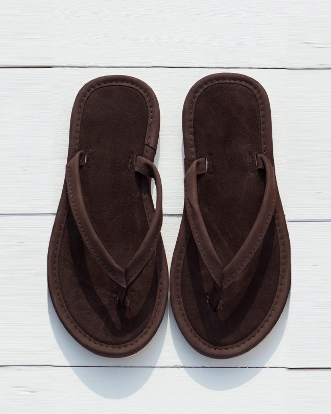 Flip-Flops aus Nubuk- & Wildleder